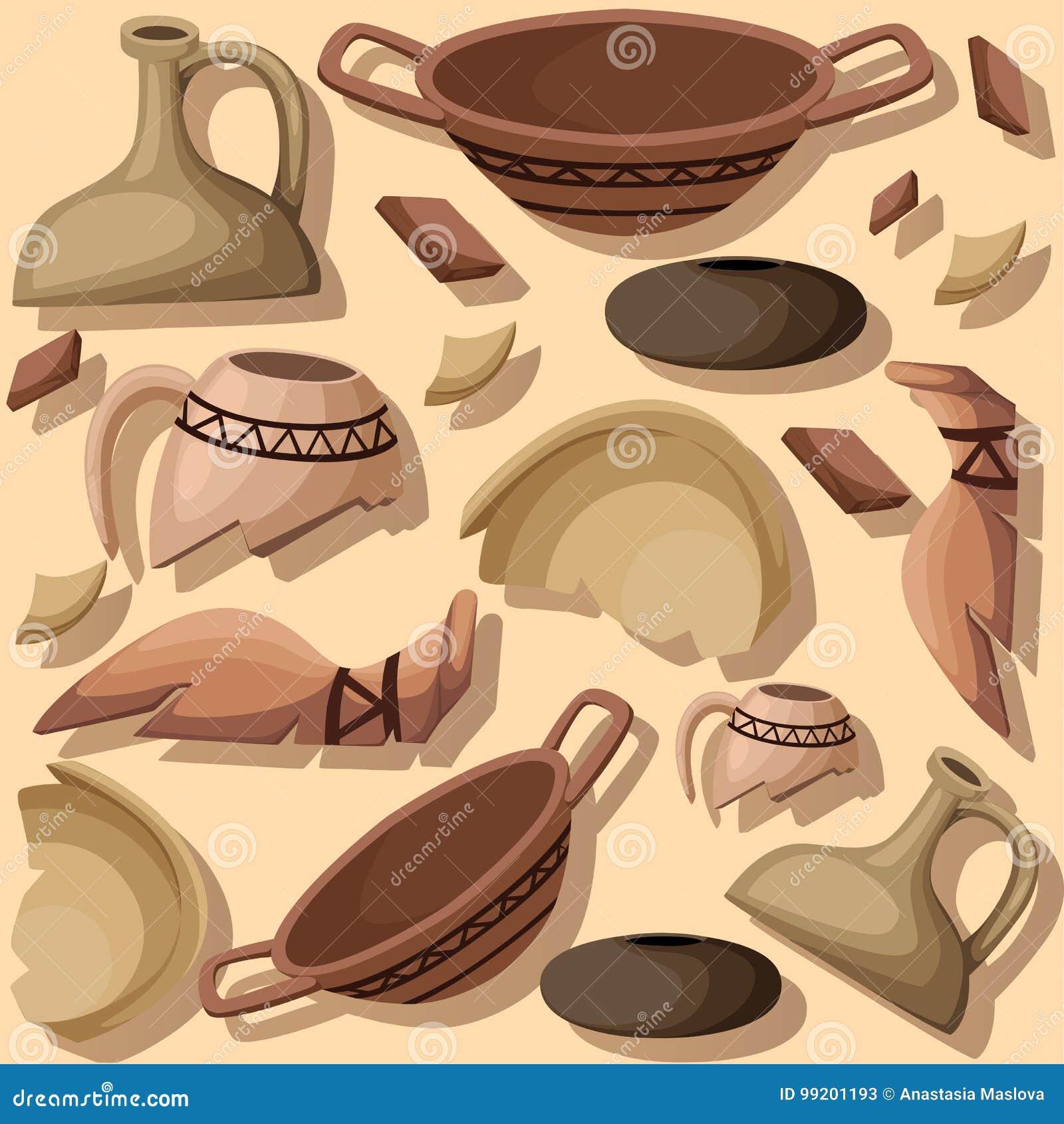 La page archéologique de site Web d excavation d archéologie et de concept de paléontologie et l APP mobile conçoivent l élément