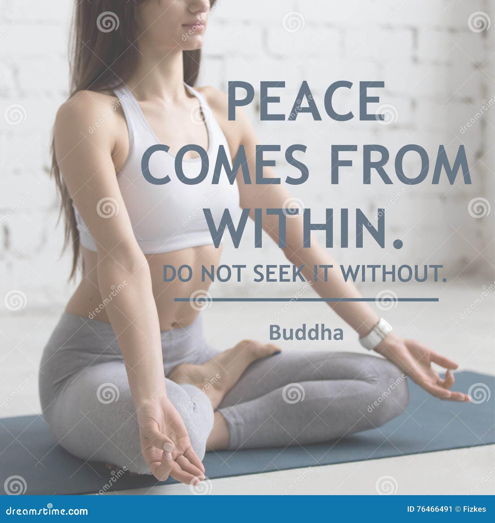 La paix vient de Ne le cherchez pas sans