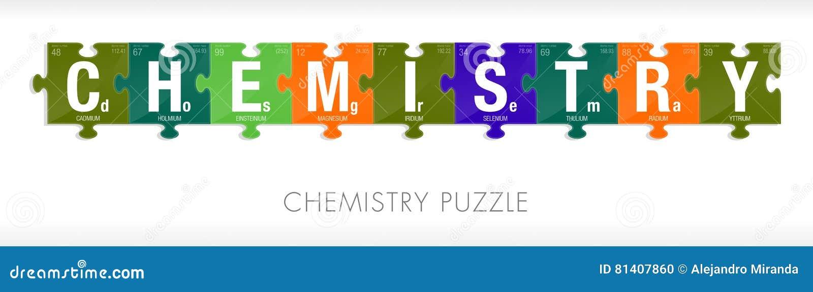 La palabra de la qumica form por smbolos de la tabla peridica la palabra de la qumica form por smbolos de la tabla peridica de los elementos bajo la forma de pedazos del rompecabezas urtaz Gallery