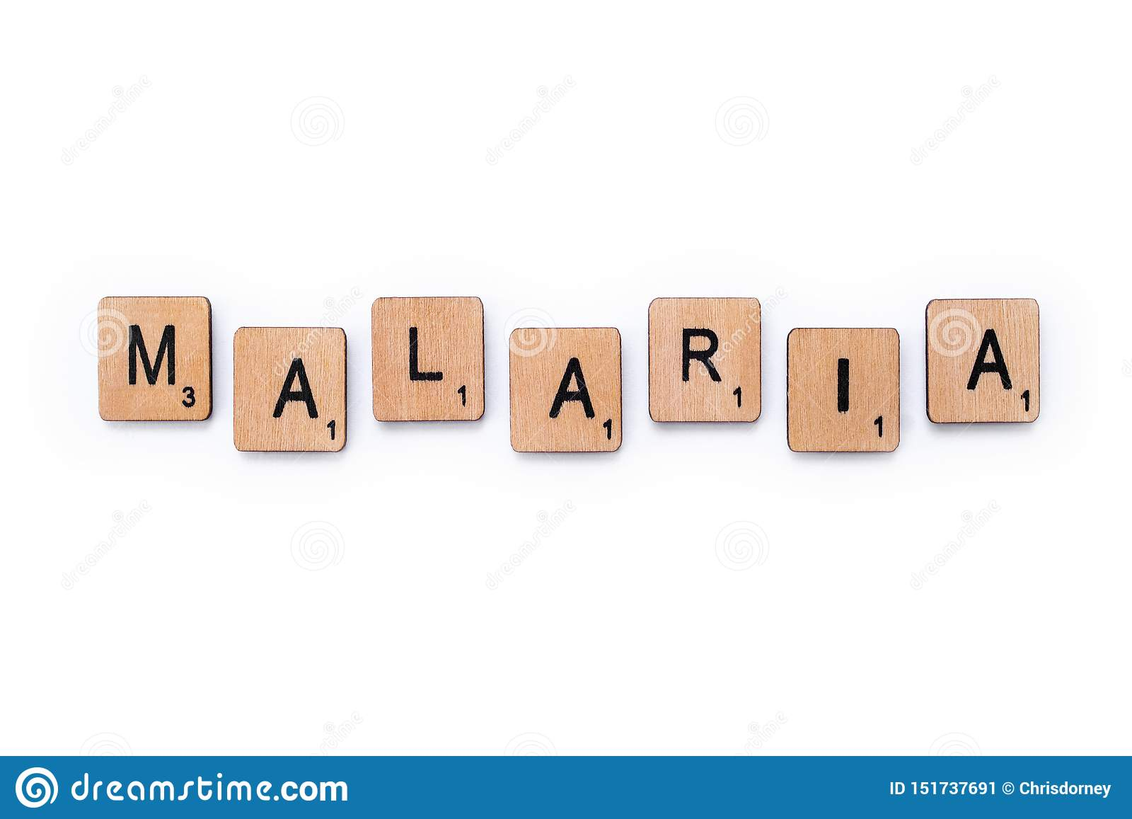 La palabra MALARIA