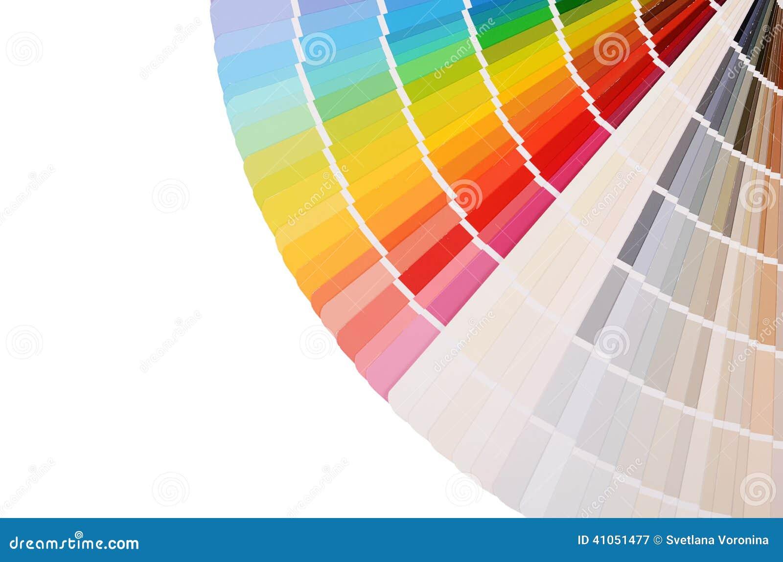 La paleta de colores aislada en blanco foto de archivo - Paleta de colores titanlux ...