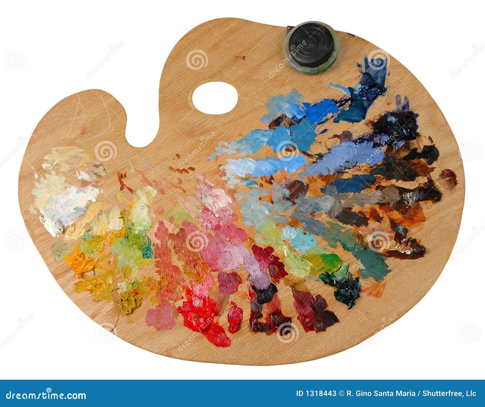 La palette de l artiste