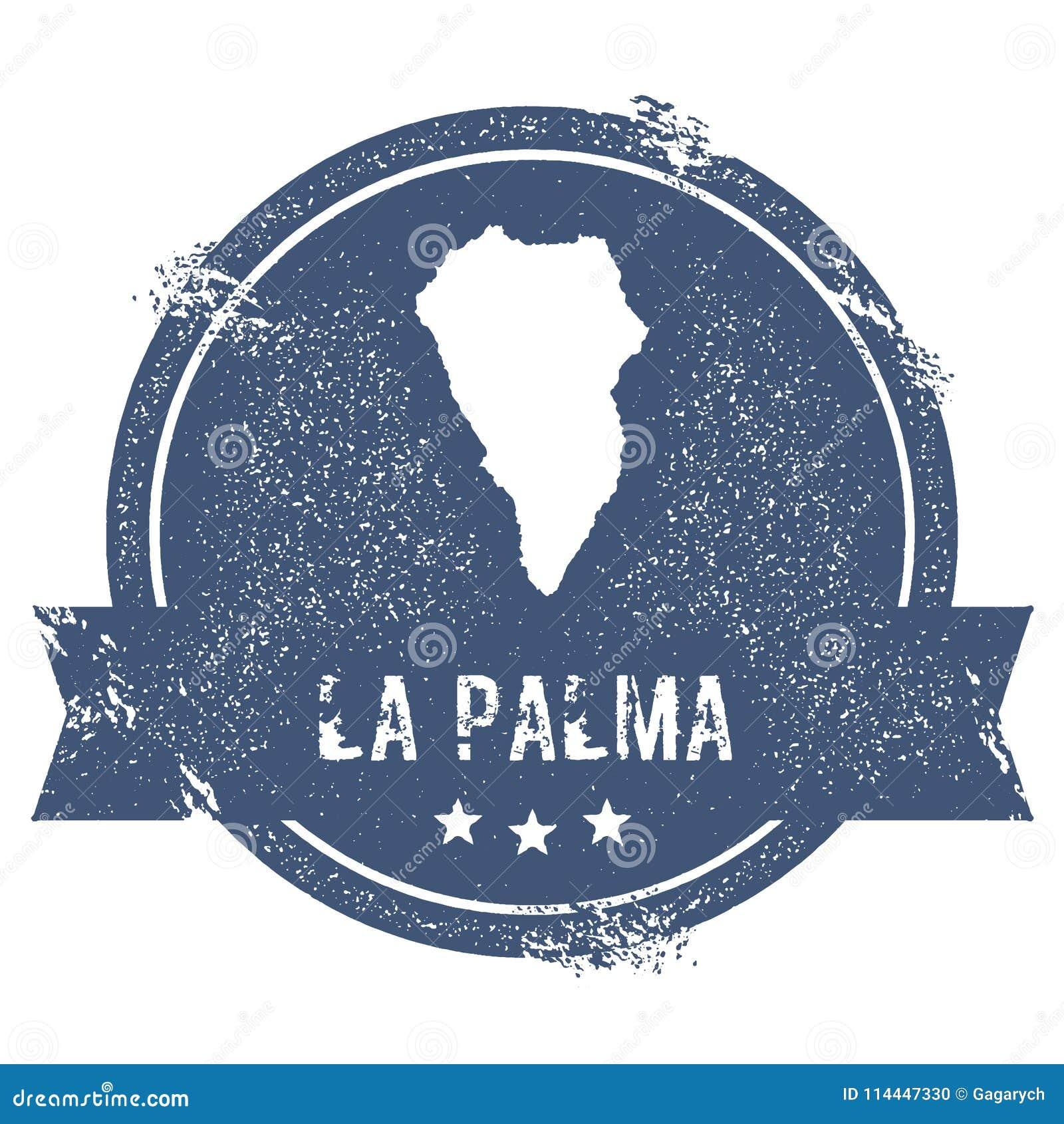 La Palma logo sign. stock vector. Illustration of star - 114447330