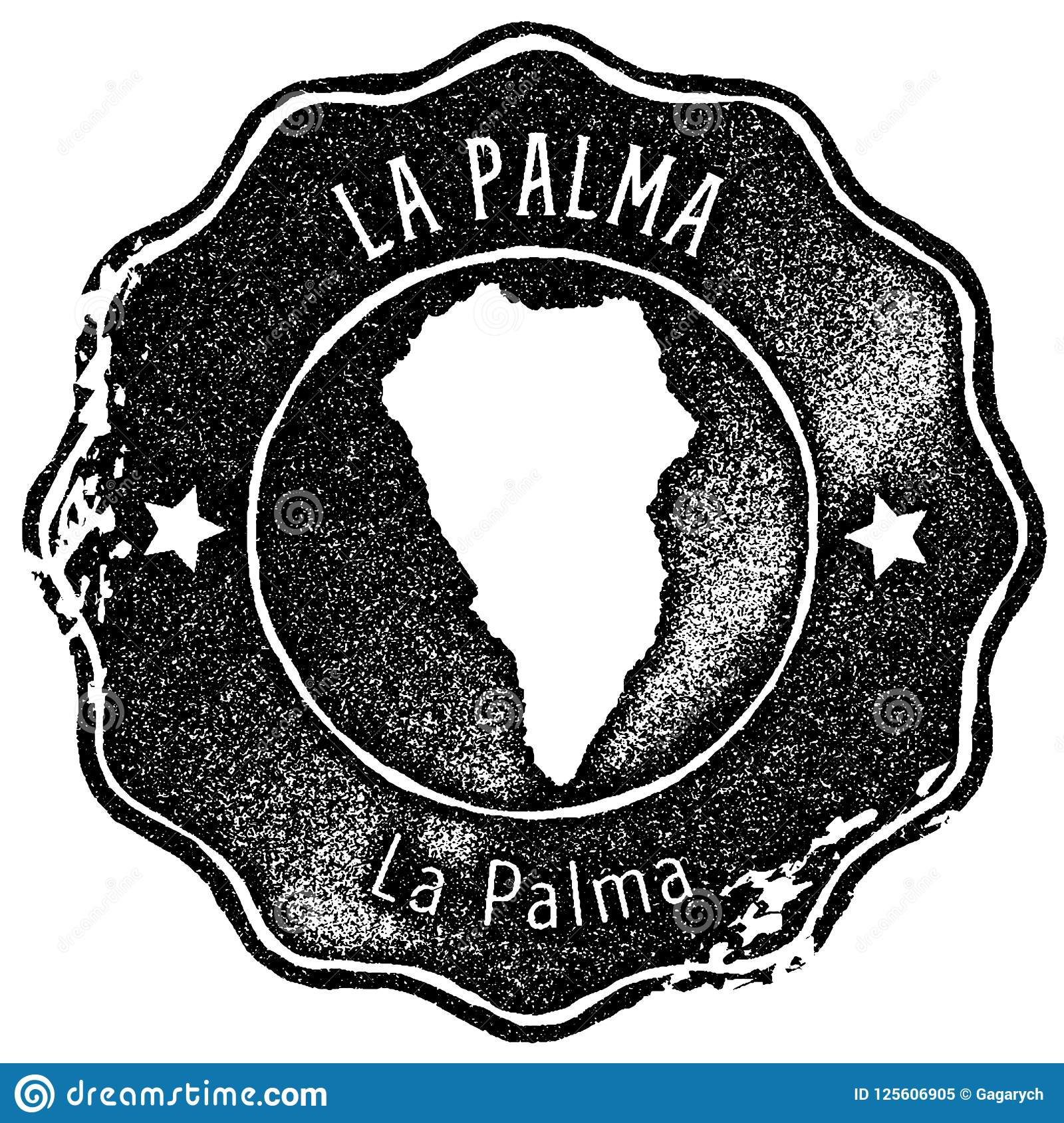 La Palma Map Vintage Stamp. Stock Vector - Illustration of label ...
