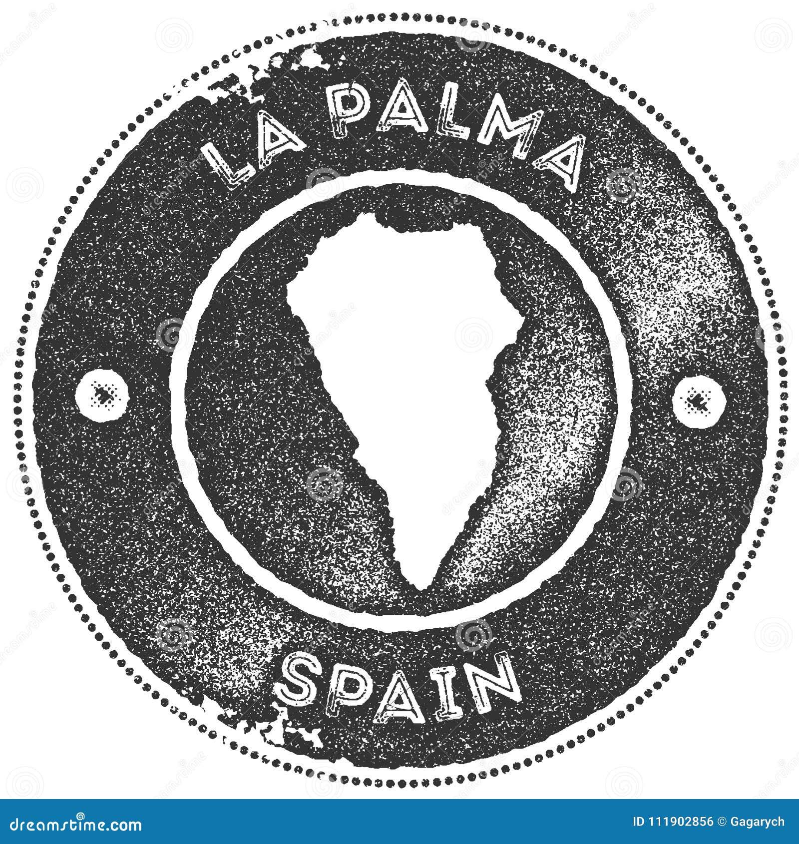 La Palma Map Vintage Stamp. Stock Vector - Illustration of insignia ...