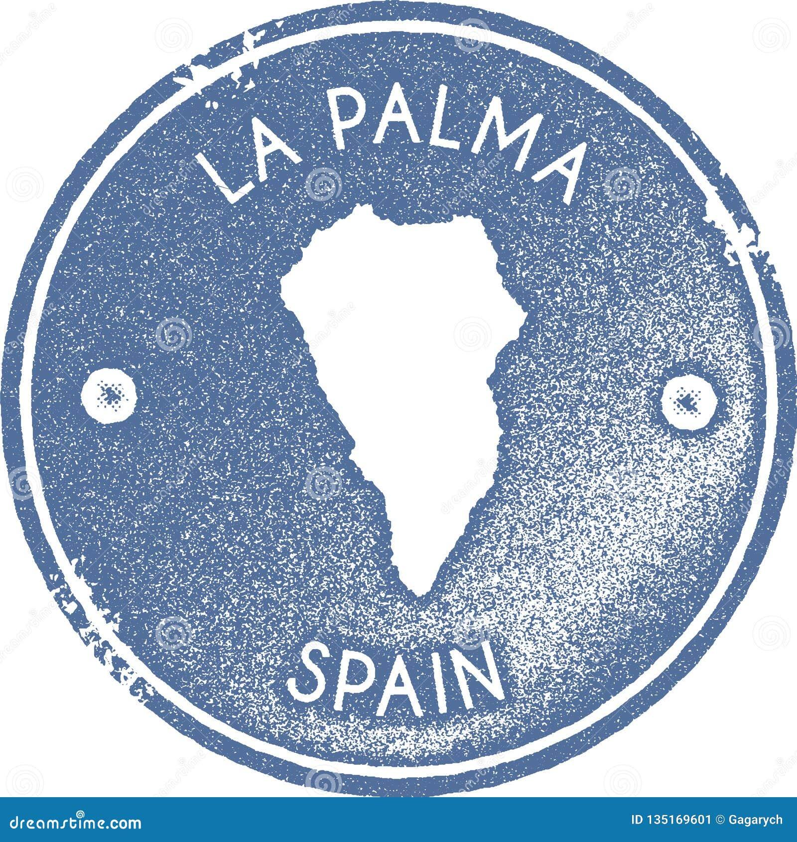 La Palma Map Vintage Stamp. Stock Vector - Illustration of light ...