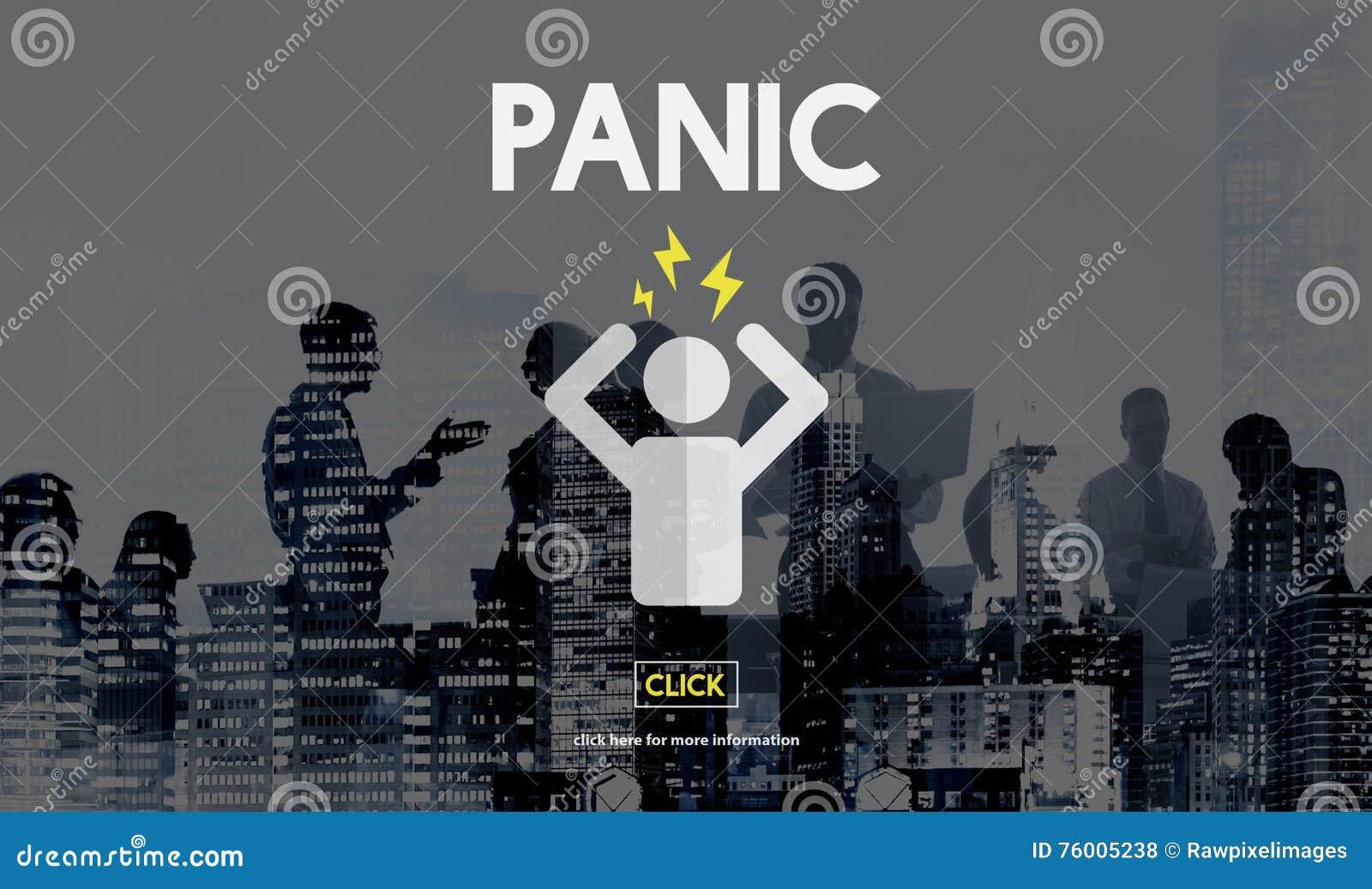 La panique a inquiété le concept effrayé soumis à une contrainte d inquiétude de phobie de crainte