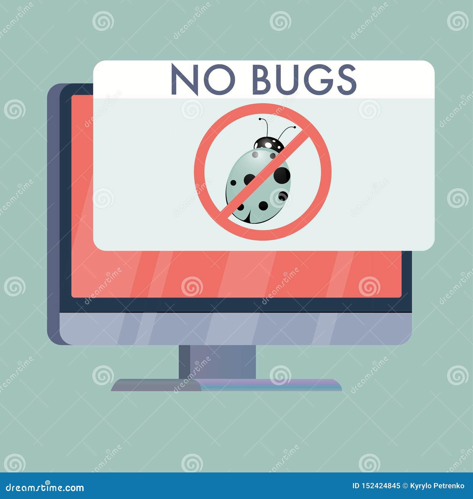 La pantalla de ordenador sin insectos firma completamente