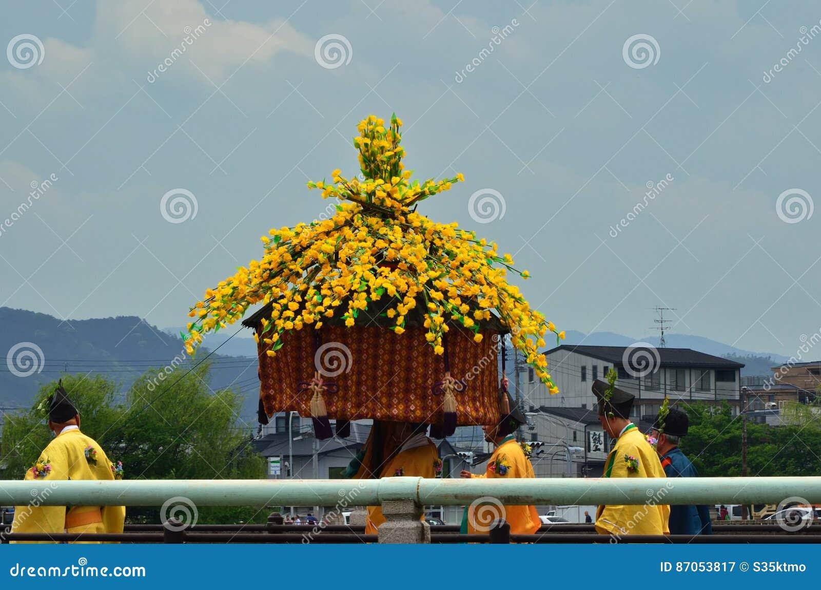 La parata del festival di Kyoto Aoi, Giappone