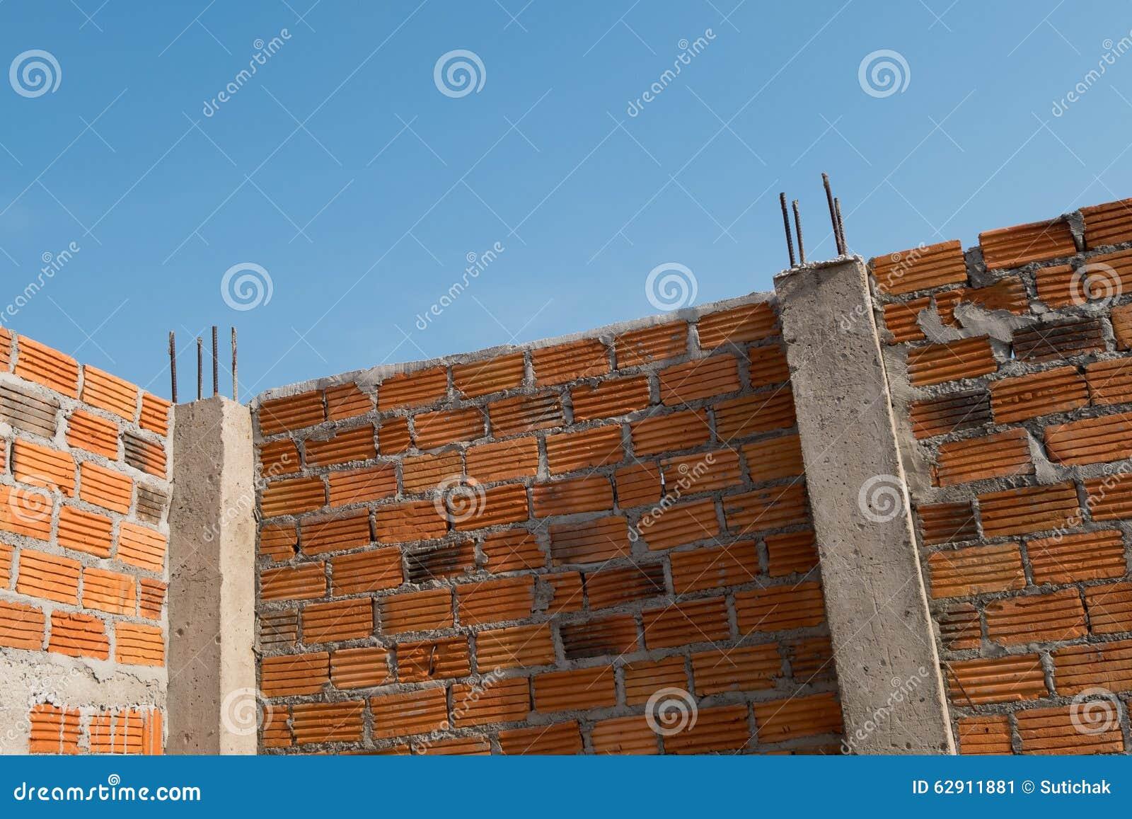 la pared hizo el ladrillo en la construccin de edificios