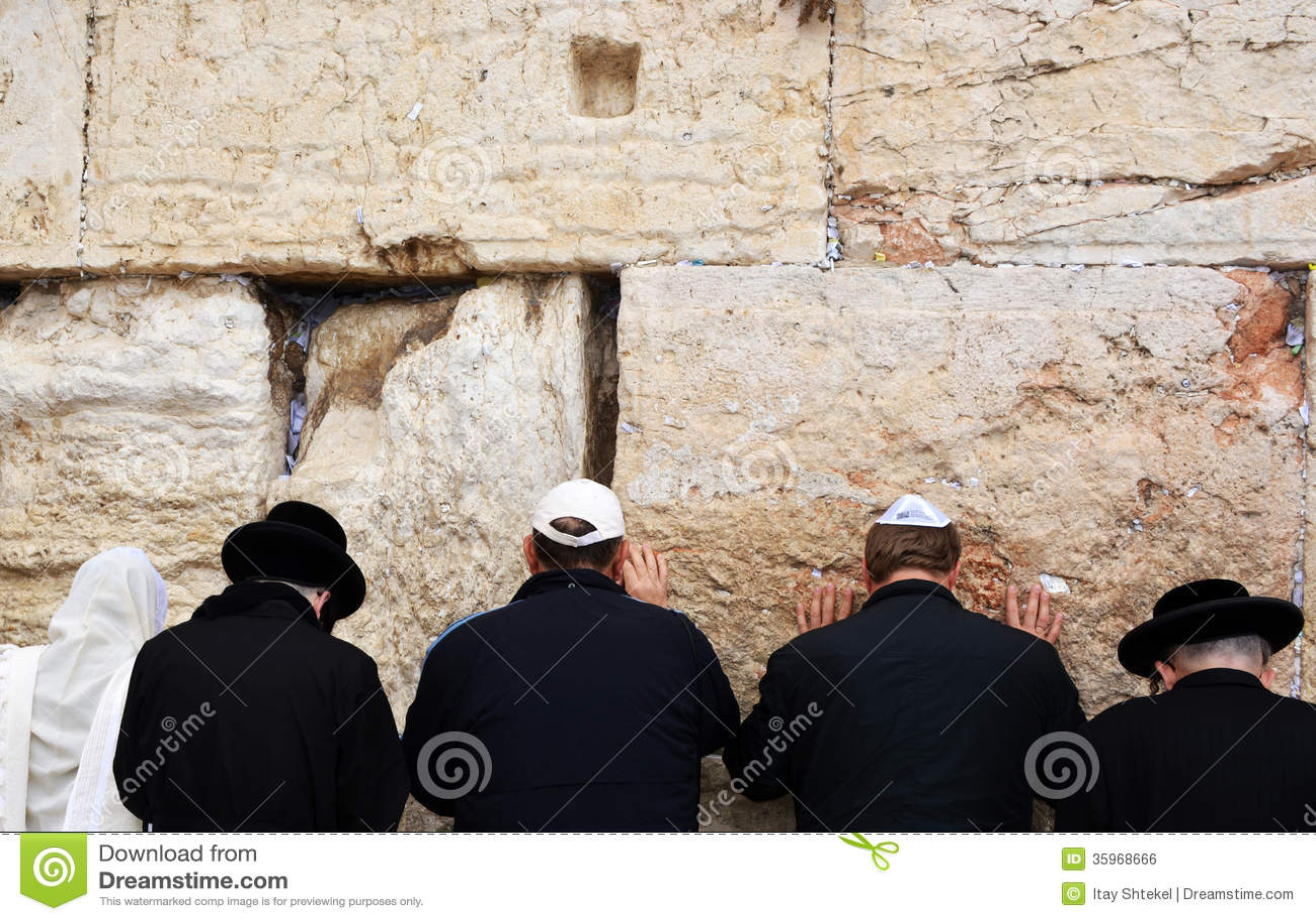La pared occidental en Jerusalén