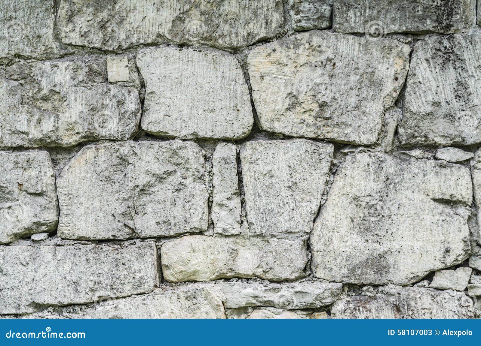 La parete di pietra ha composto dalle dimensioni - Parete di pietra ...