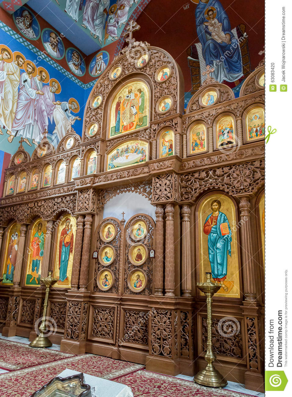Download La Paroisse Orthodoxe De St Nicholas Altar B Image éditorial - Image du vertical, occidental: 63083420
