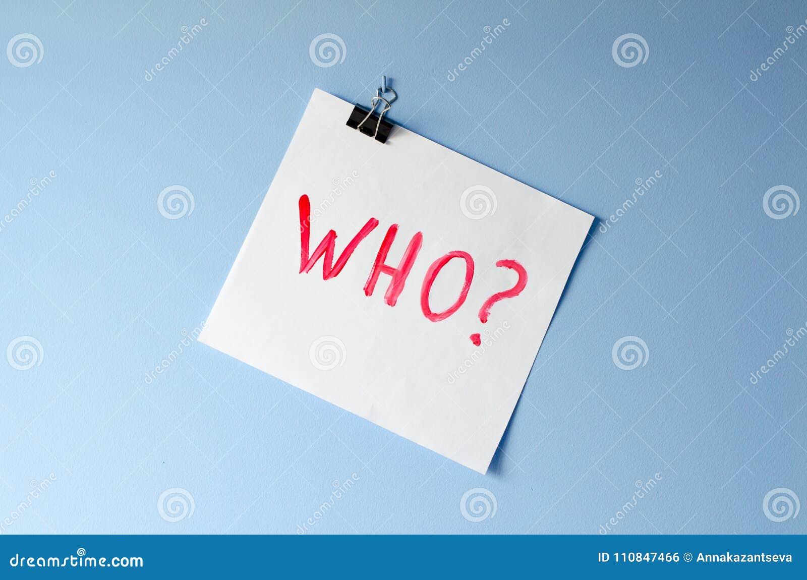 La parola chi? sullo strato del Libro Bianco