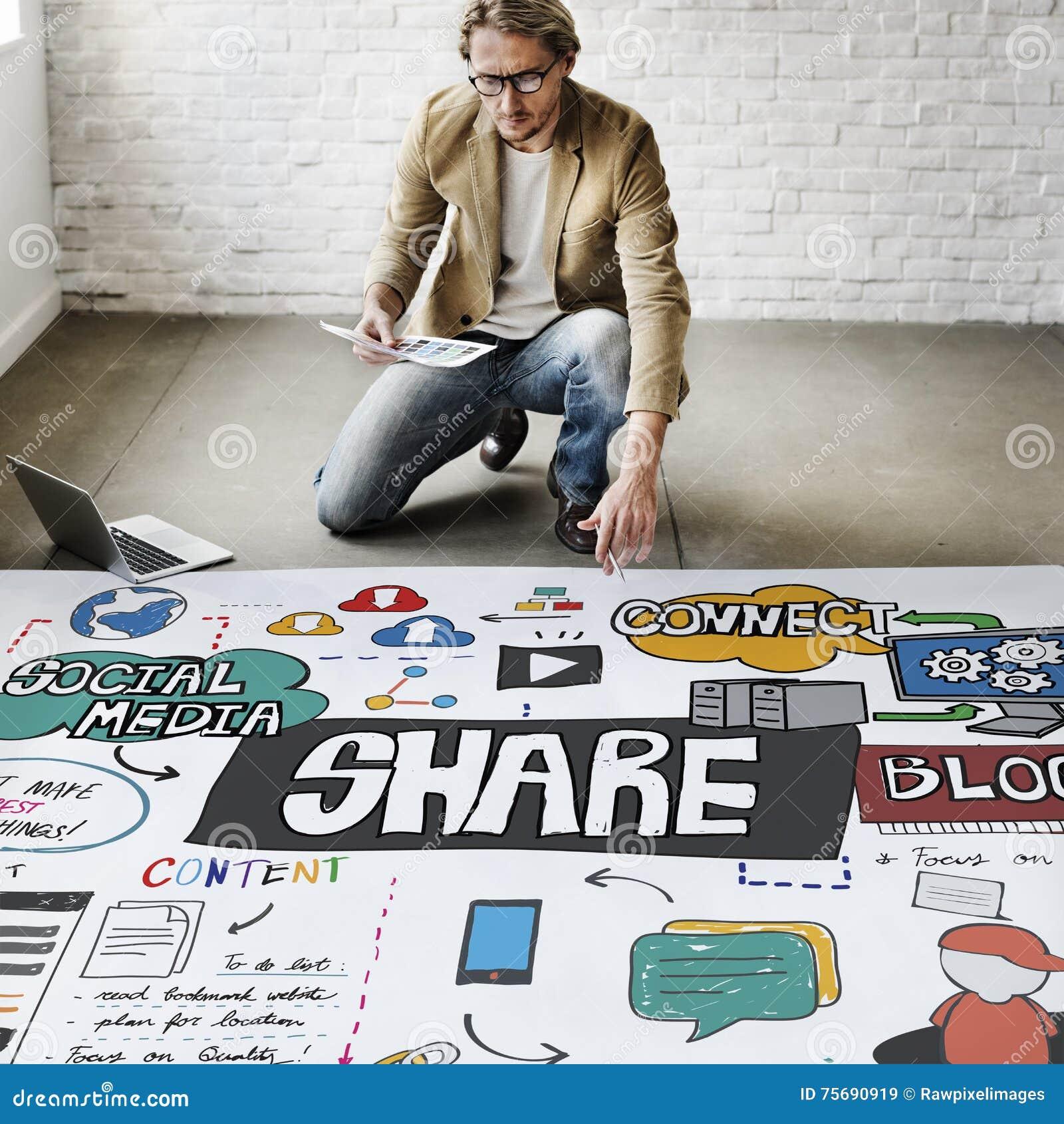 La part partageant la rétroaction de communication relient le concept