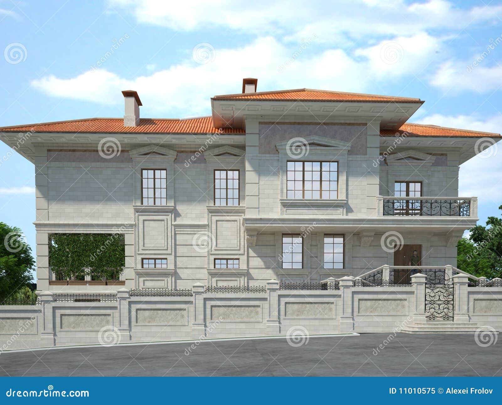 La parte anteriore della casa illustrazione di stock for Programma di disegno della casa libera