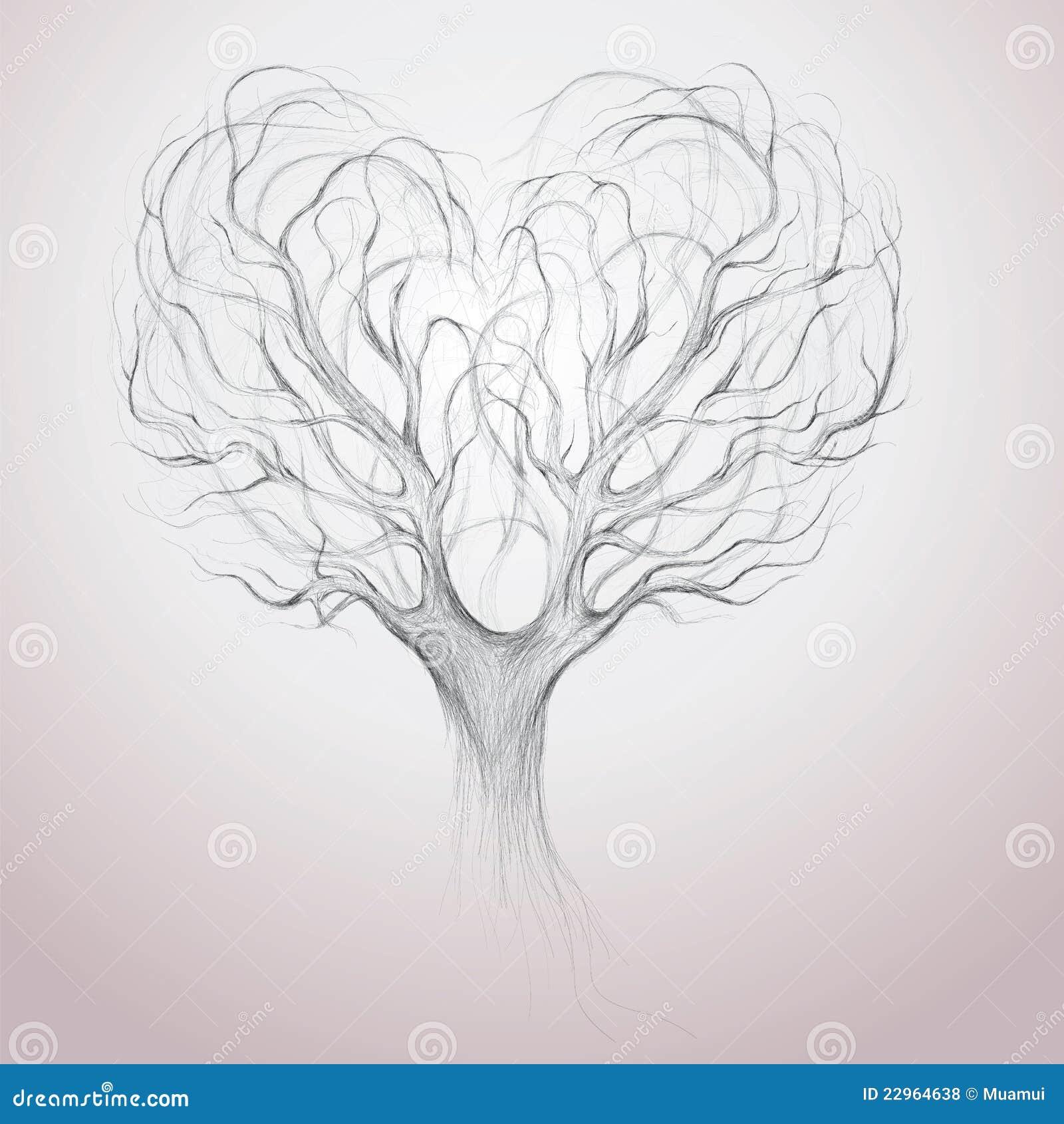 La parte superiore dell 39 albero gradice il cuore illustrazione vettoriale immagine 22964638 - Deksel van de boom ...