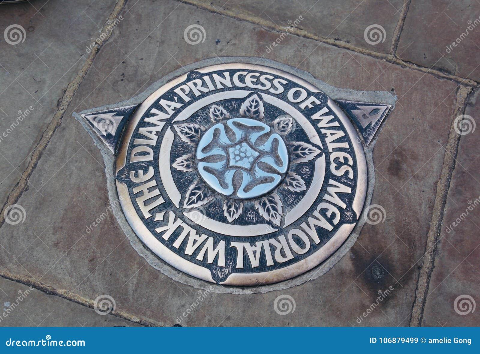 La passeggiata commemorativa della principessa di Cornovaglia di Dianna