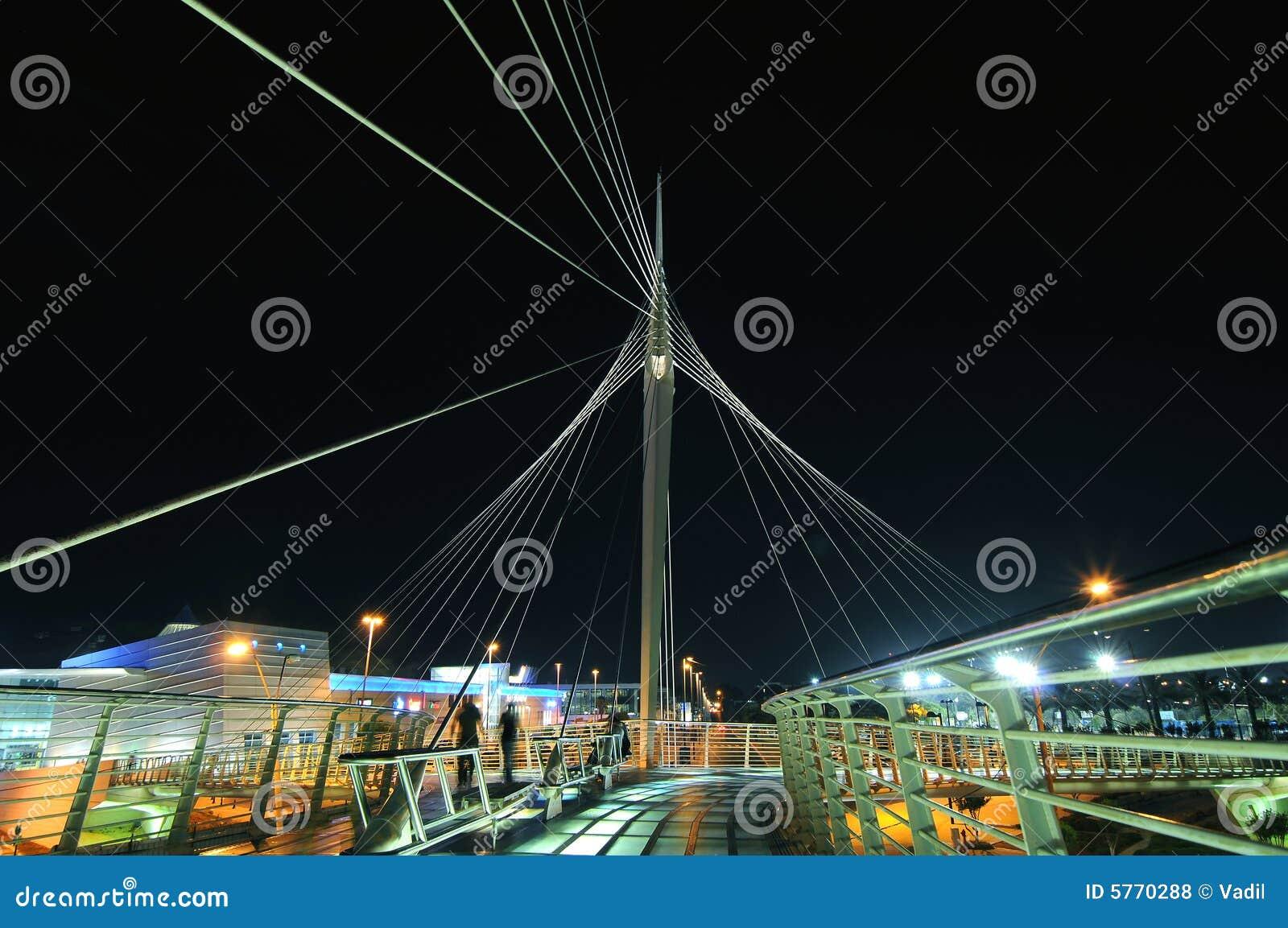 La passerelle piétonnière de Calatrava dans Petah Tikva, Isra