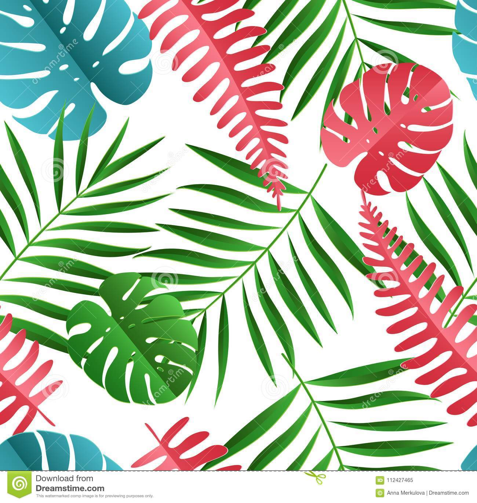 La paume de papier, monstera part du modèle sans couture Été tropical