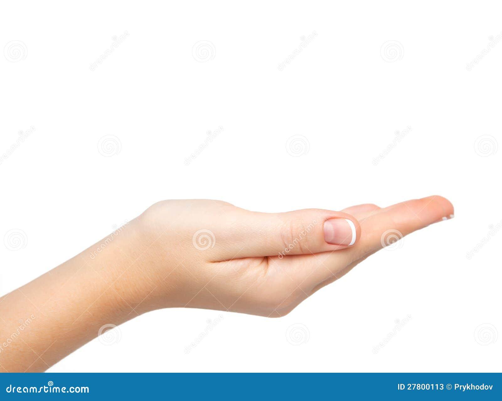 La paume femelle de main a retenu le sujet