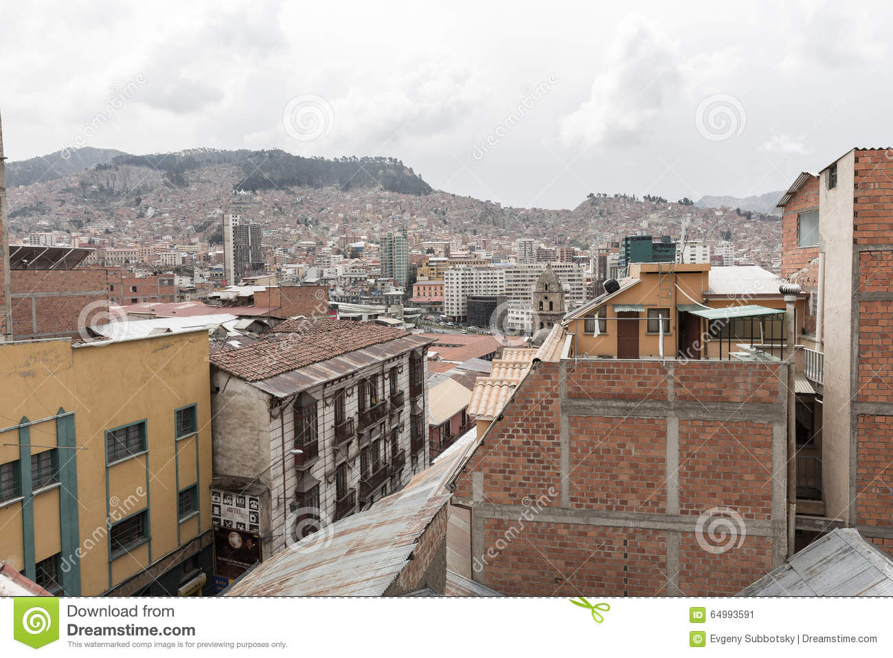 Cityscape Of La Paz Bolivia Editorial Image