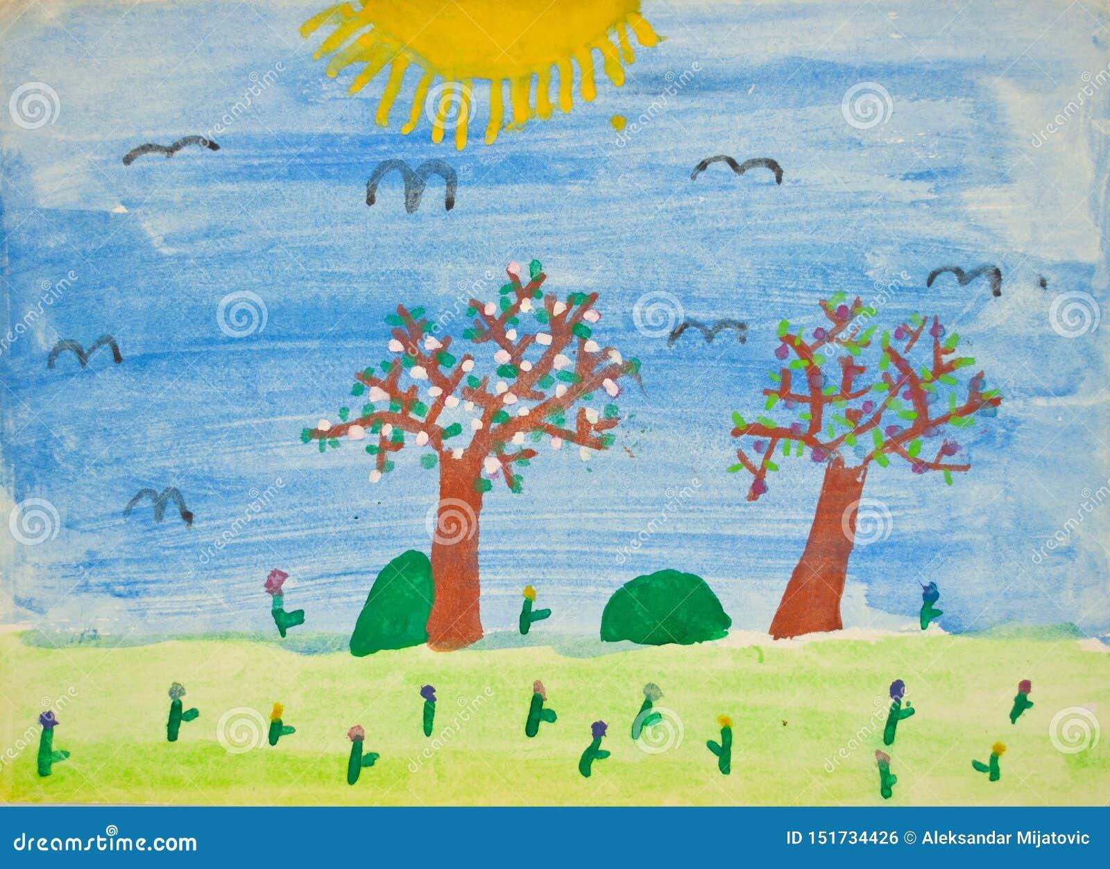 La Peinture De L Enfant D Ecole Maternelle Photo Stock Image Du Peinture Ecole 151734426