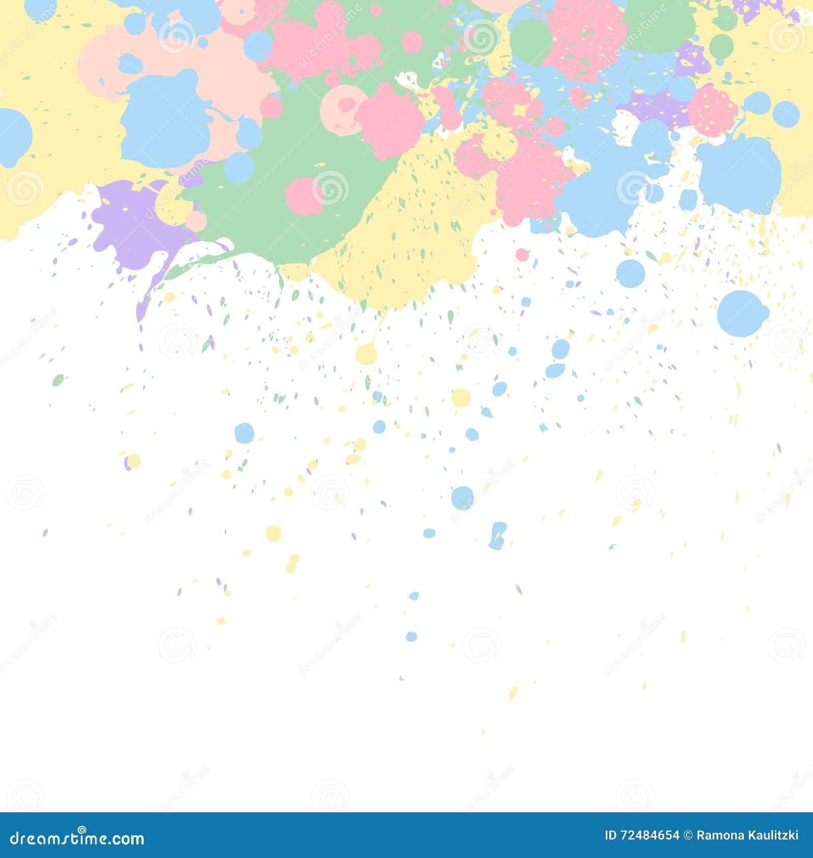 La peinture en pastel éclabousse