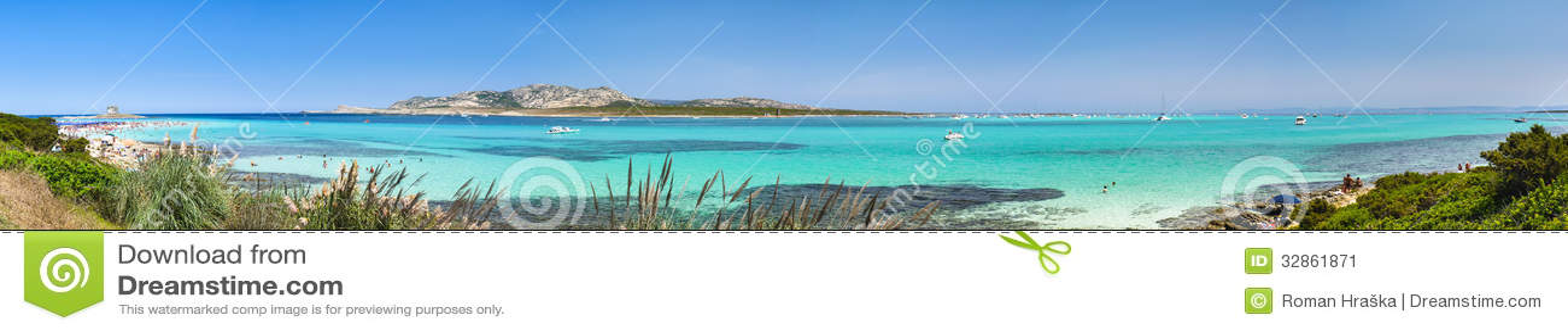 La Pelosa beach panorama