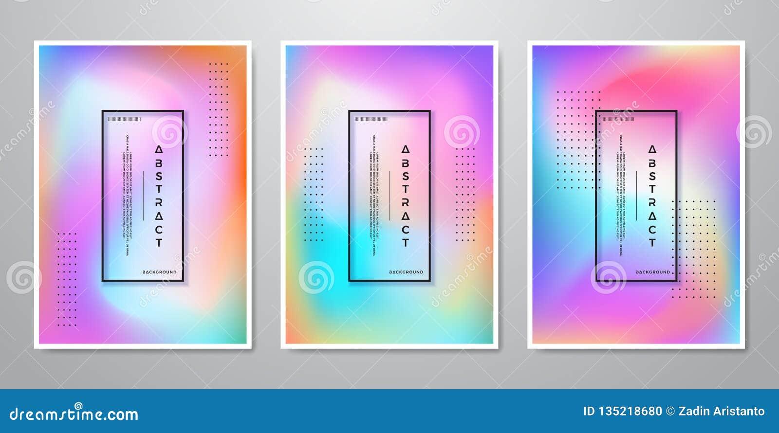 La pendiente de moda abstracta forma los fondos olográficos para la pantalla móvil, publicidad, contexto, folleto, cubierta, avia