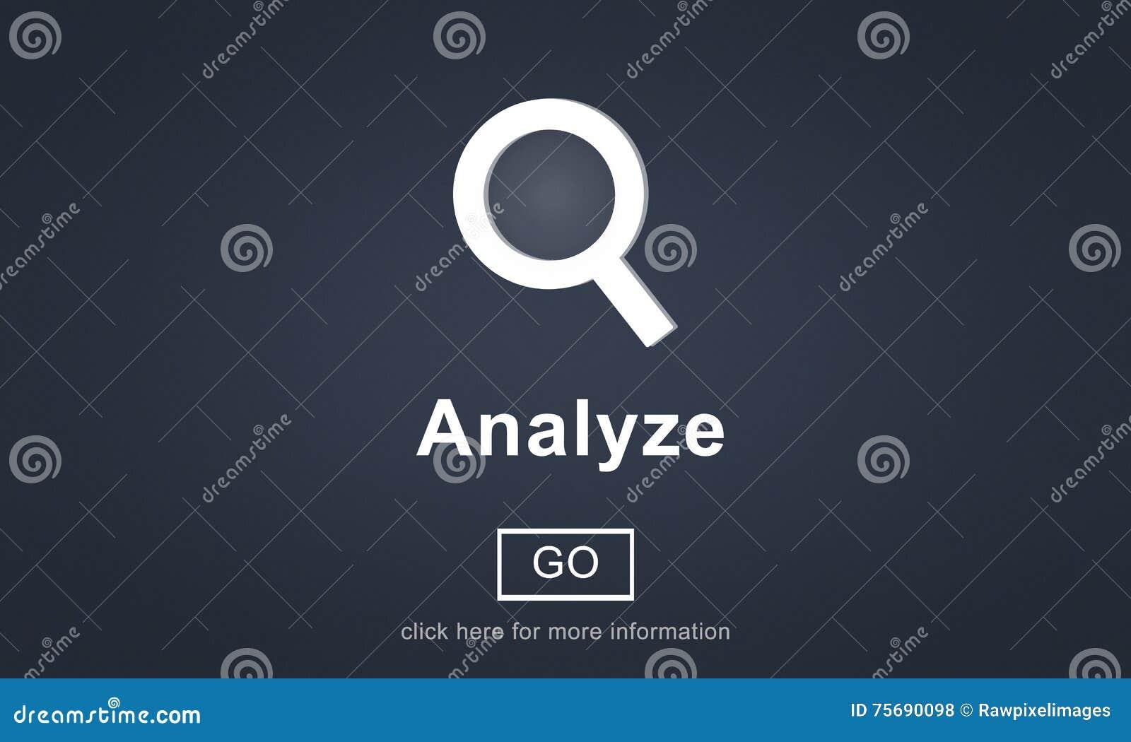 La penetración de la información del análisis conecta concepto de los datos