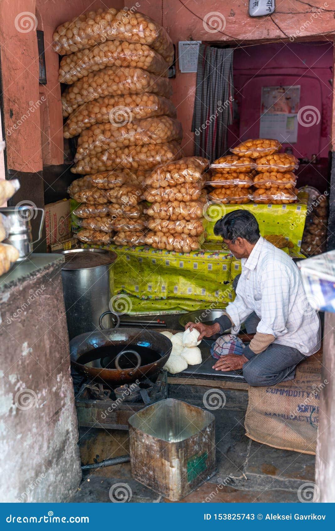 La pequeña tienda en la India
