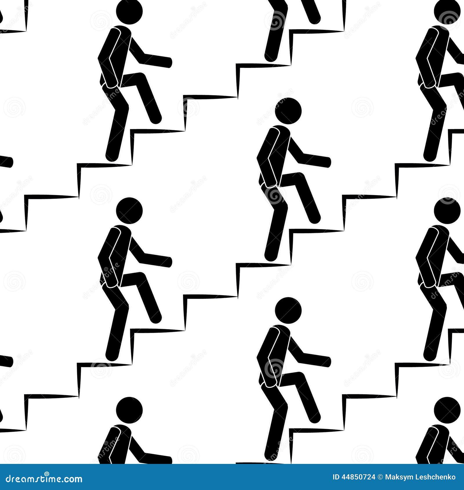La persona sube para arriba el modelo inconsútil de las escaleras