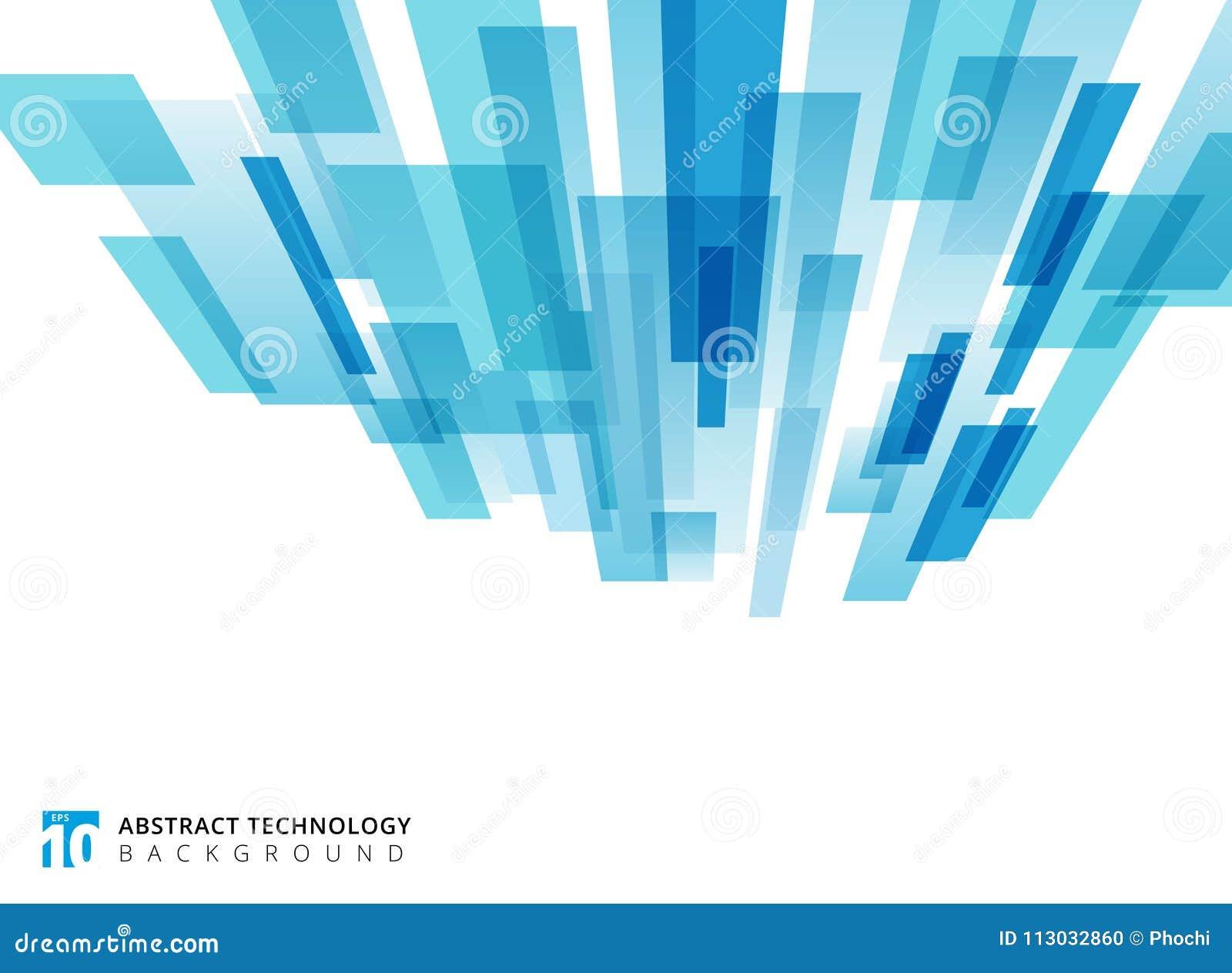La perspectiva vertical de la tecnología abstracta coincidió sq geométrico