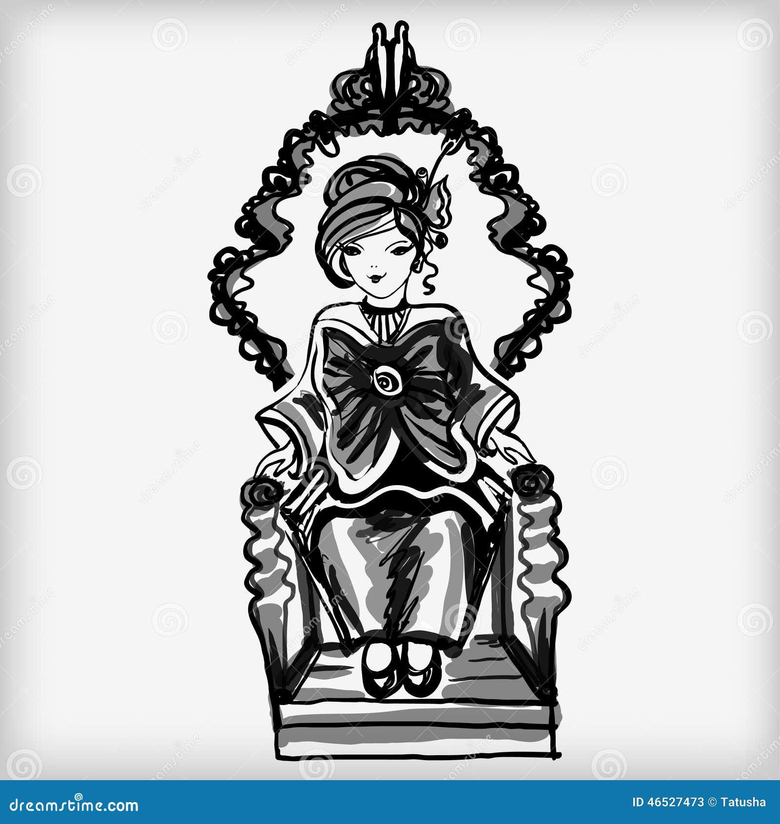 La petite femme avec un arc énorme