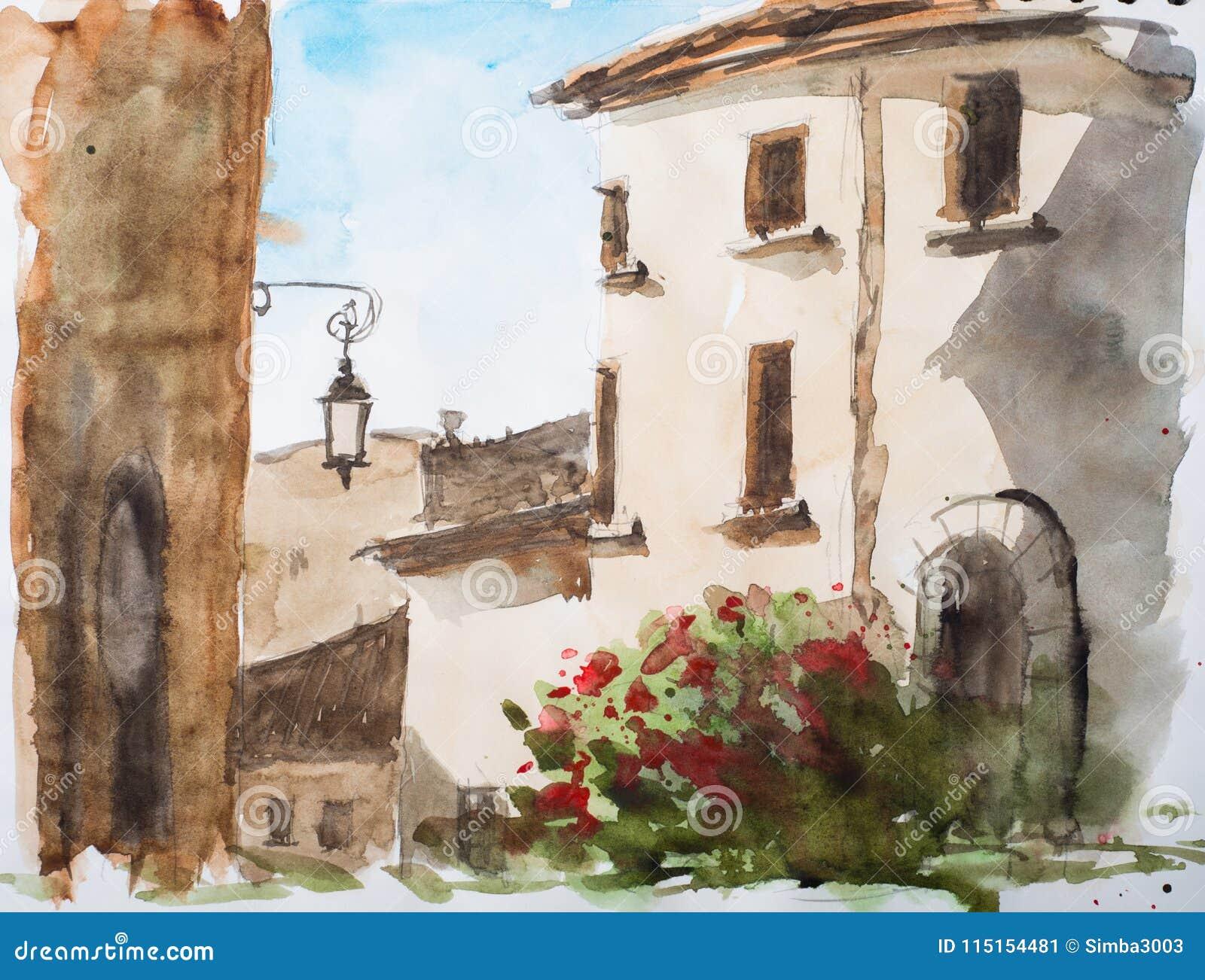 La petite ville en Sardaigne