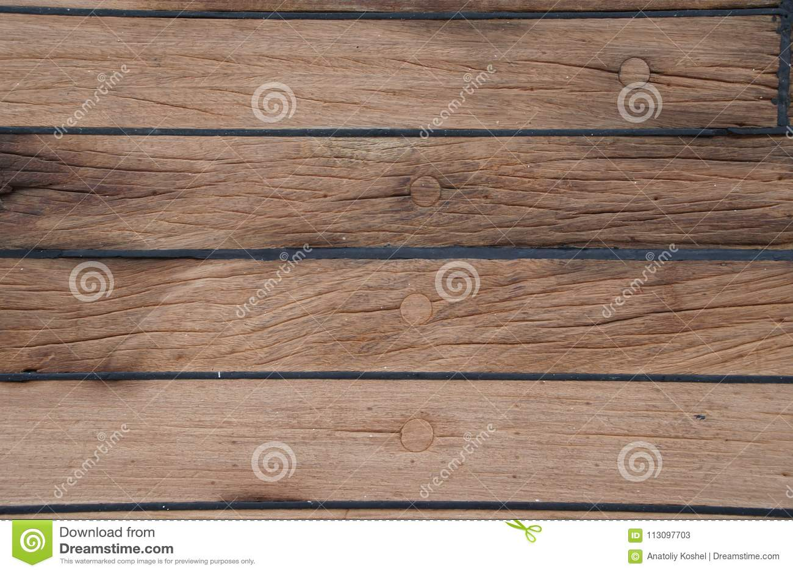 La piattaforma è sulla nave Struttura di legno superficie brown