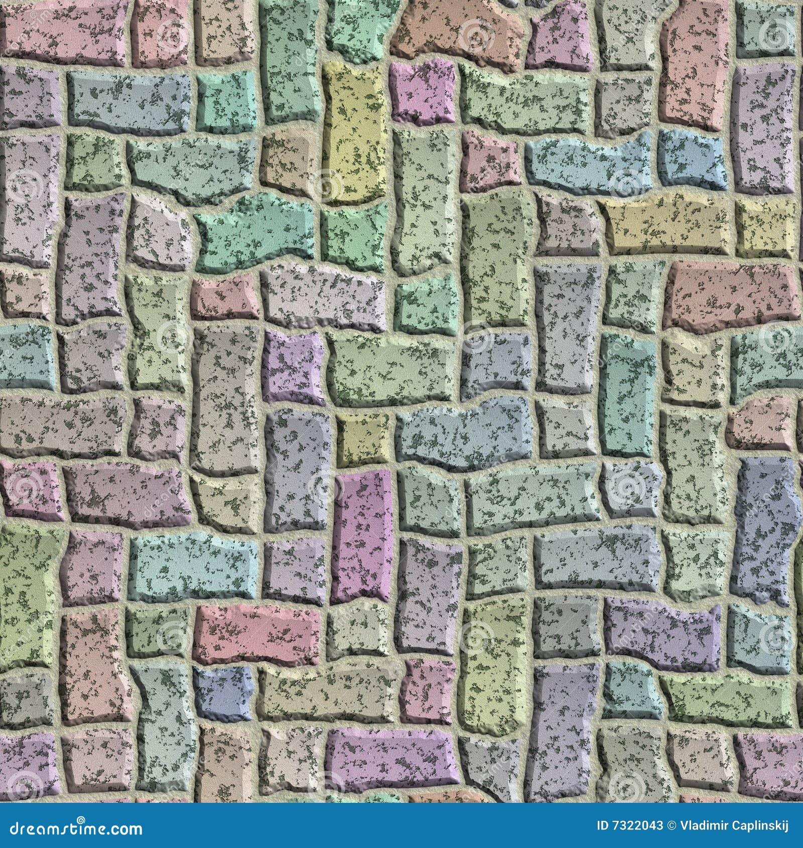 La pietra astratta copre di tegoli la struttura senza giunte.