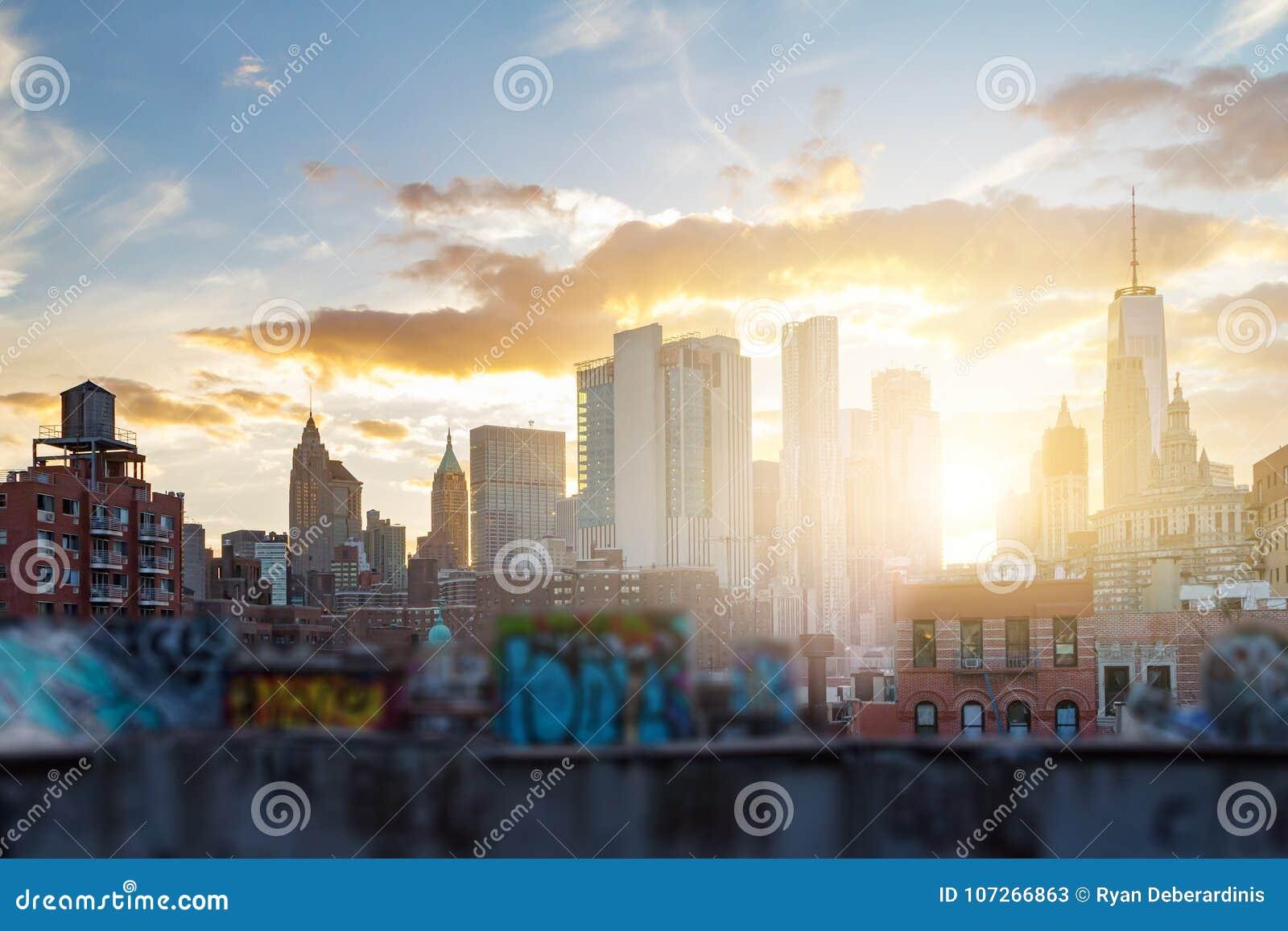 La pintada cubrió edificios de New York City