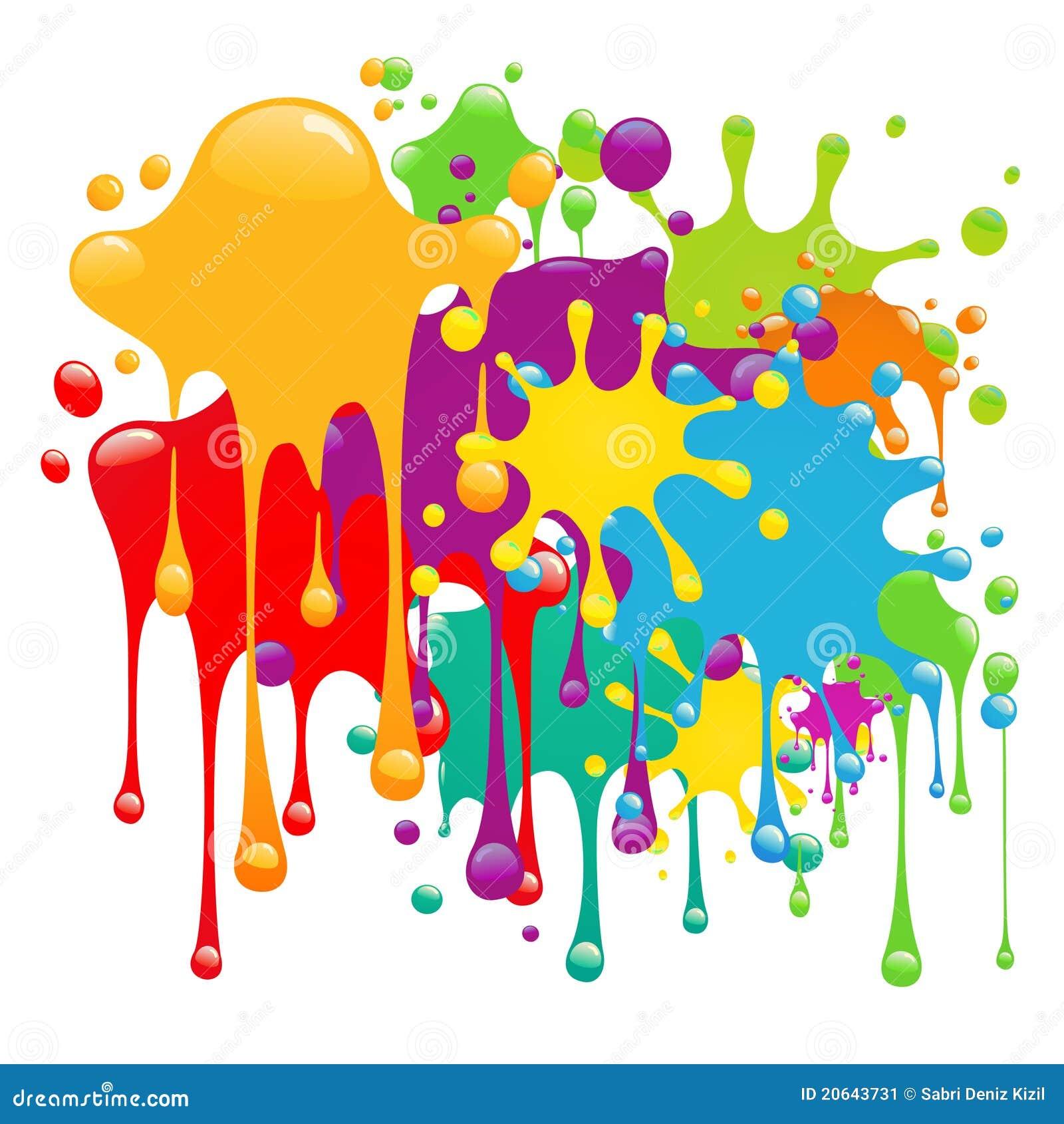 La pintura del color salpica imagen de archivo imagen - Decorarte pinturas ...