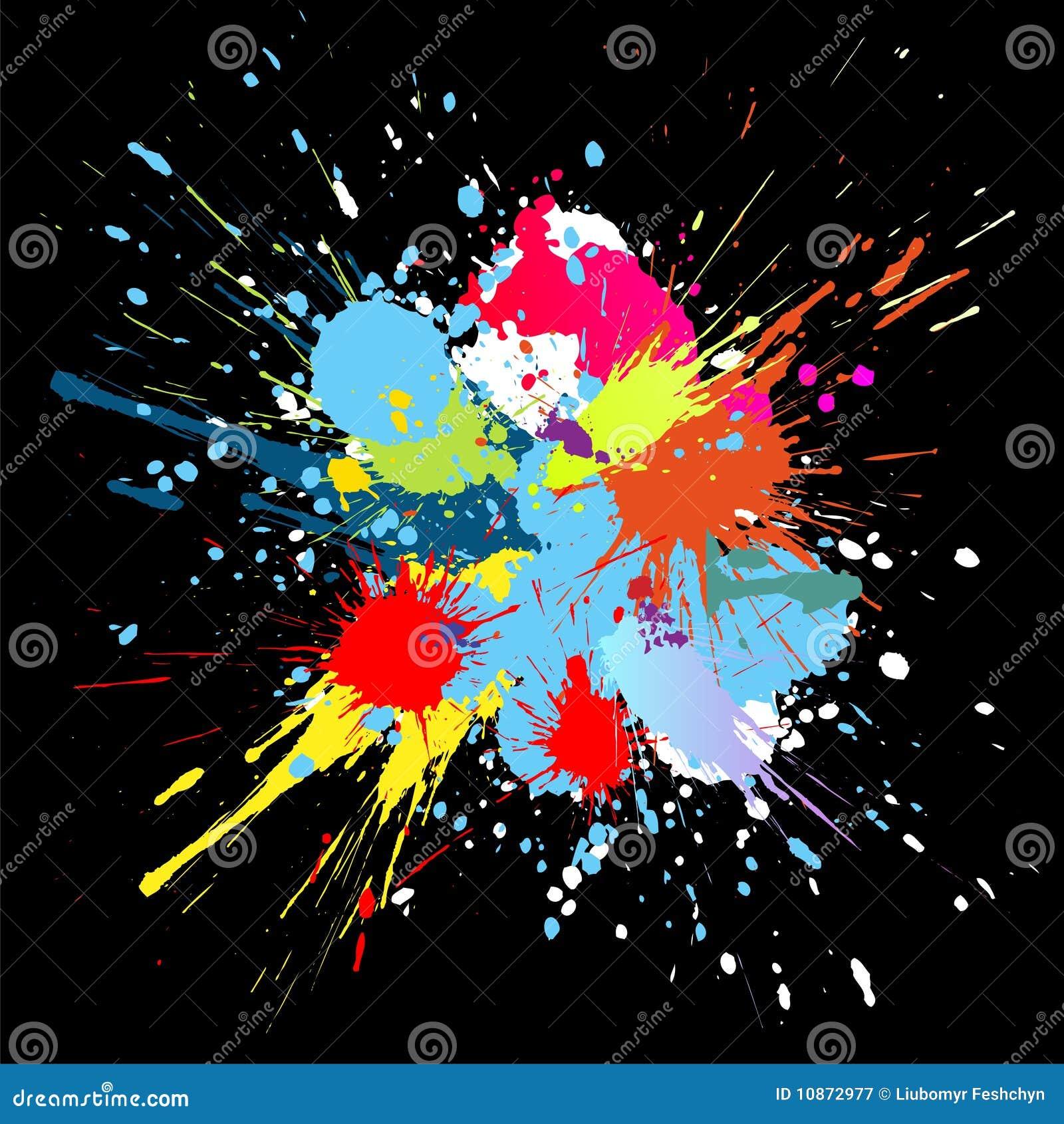 la pintura del color salpica fondo del vector del gradiente fotografa de archivo libre de