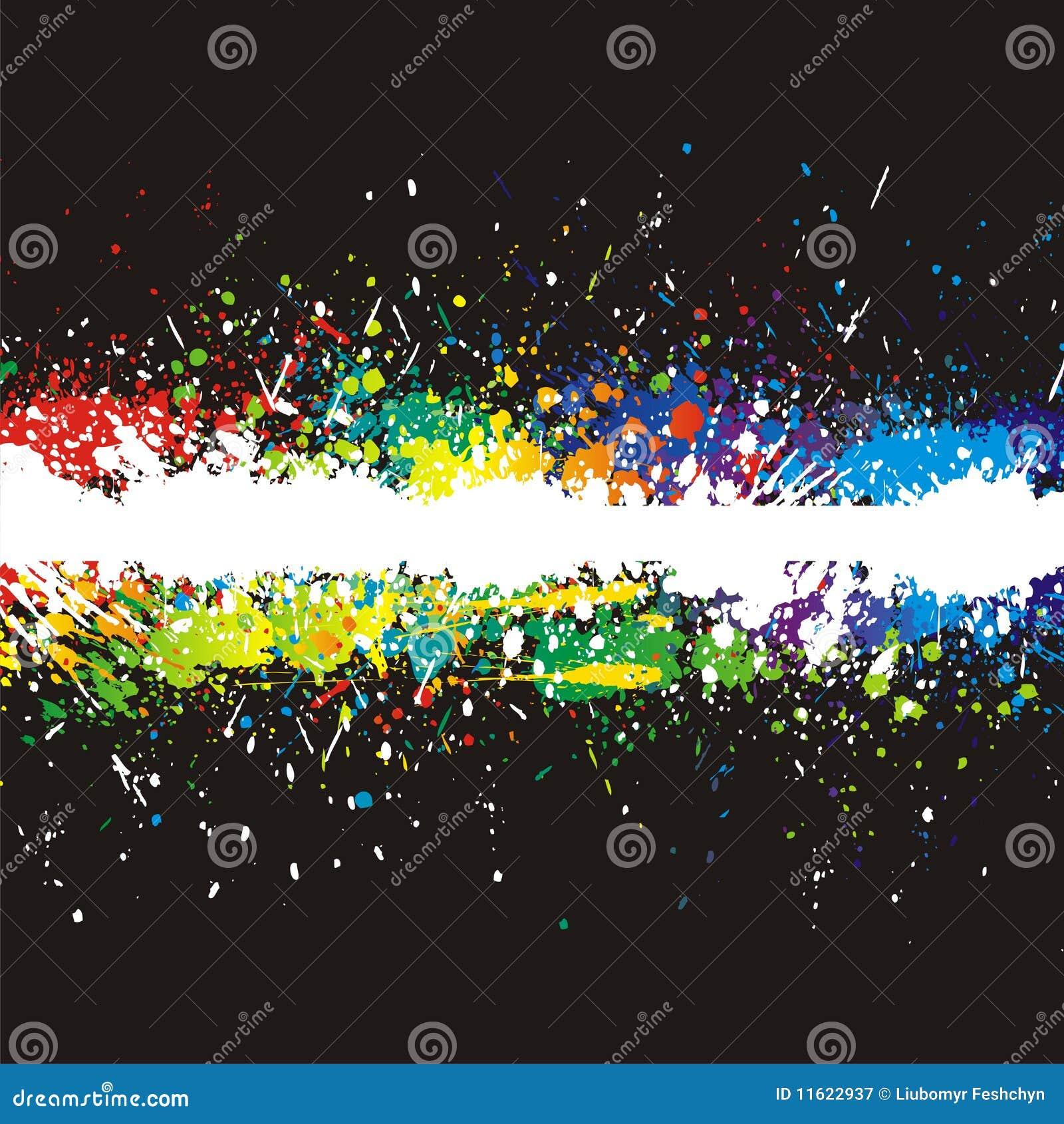 La pintura del color salpica. Fondo del vector del gradiente
