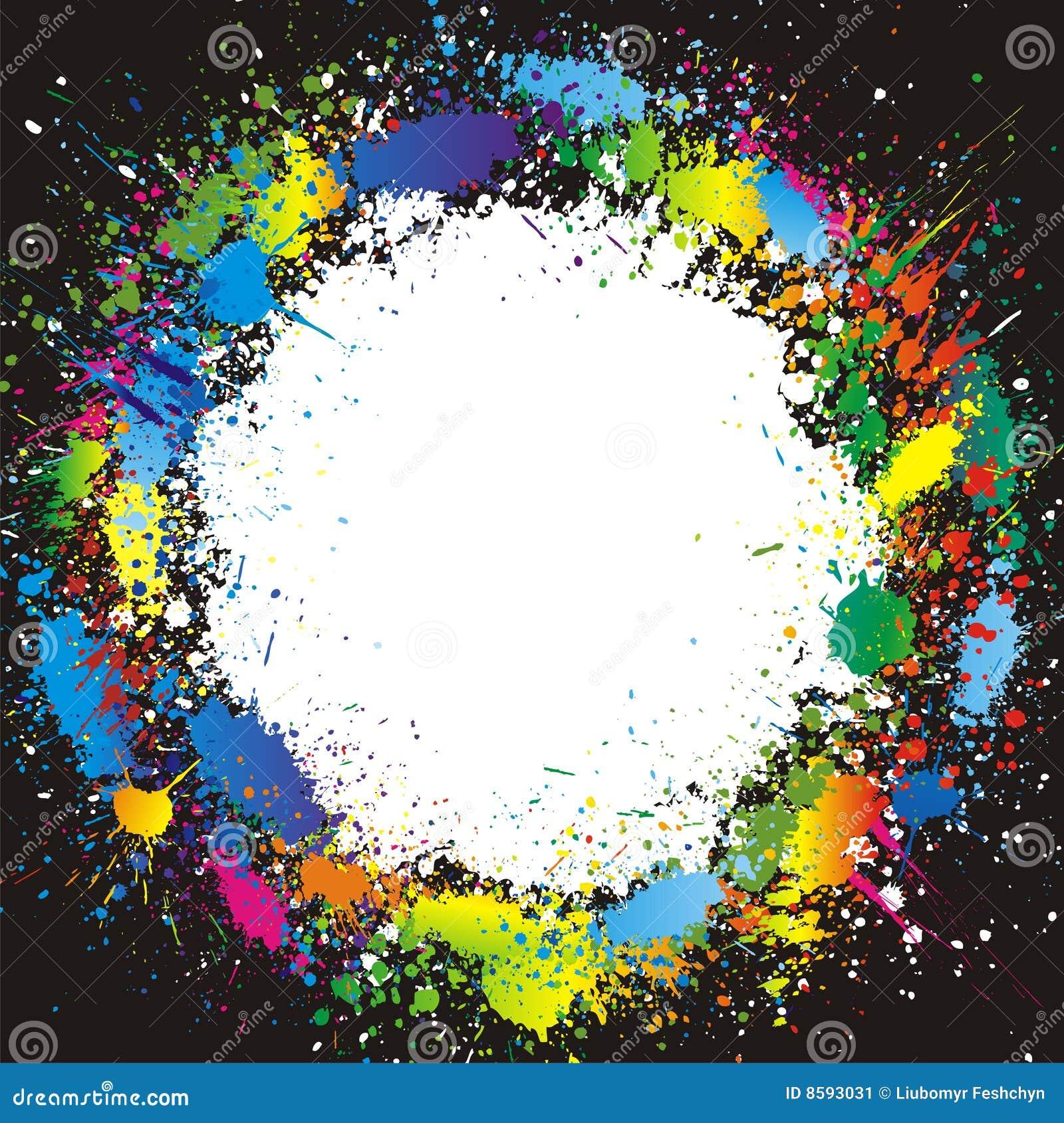 La pintura del color salpica la frontera fondo del vector for Pintura ligera de color topo