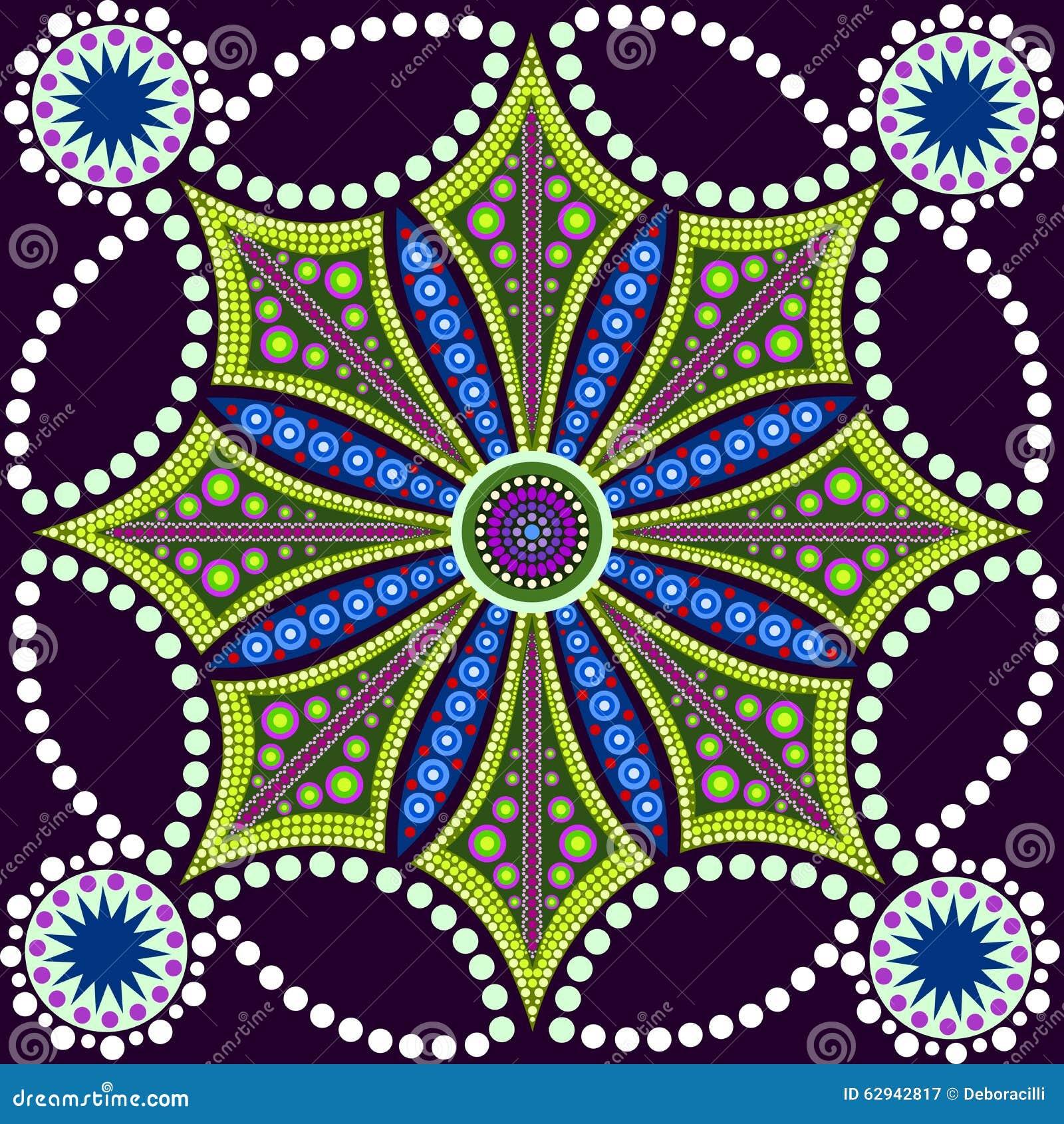 La Pintura Del Punto Resuelve Las Mandalas 8 Estilo Aborigen De La - Pinturas-de-mandalas