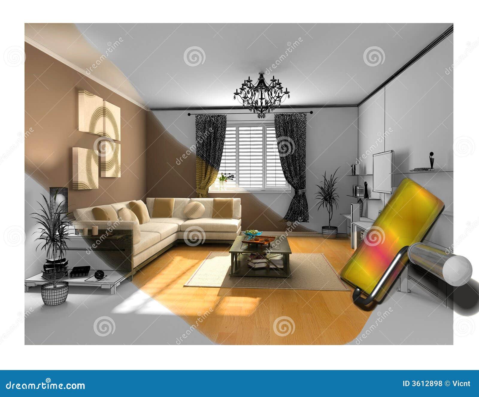 La pintura interior