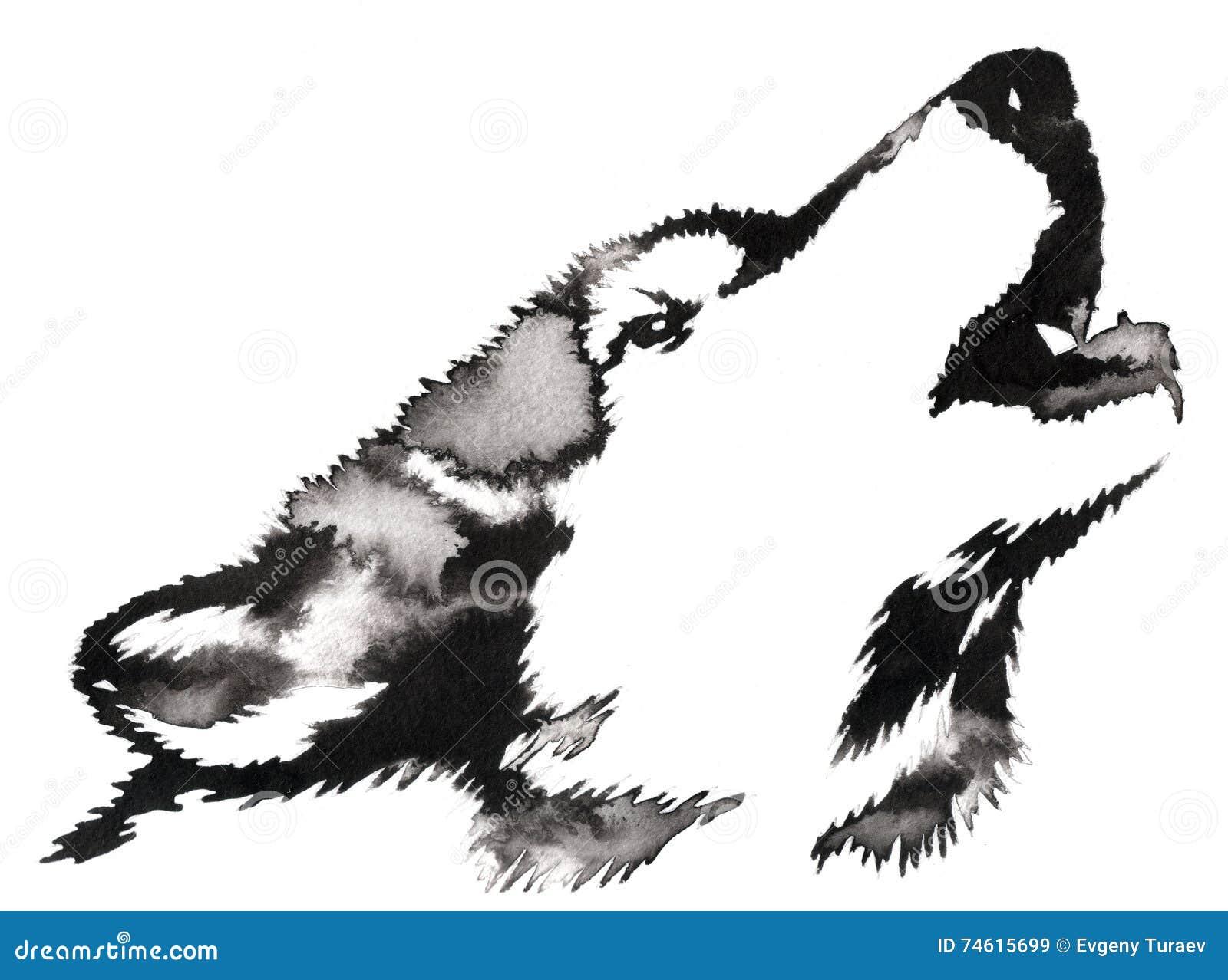 La pintura monocrom tica blanco y negro con agua y la - Blanco y negro paint ...