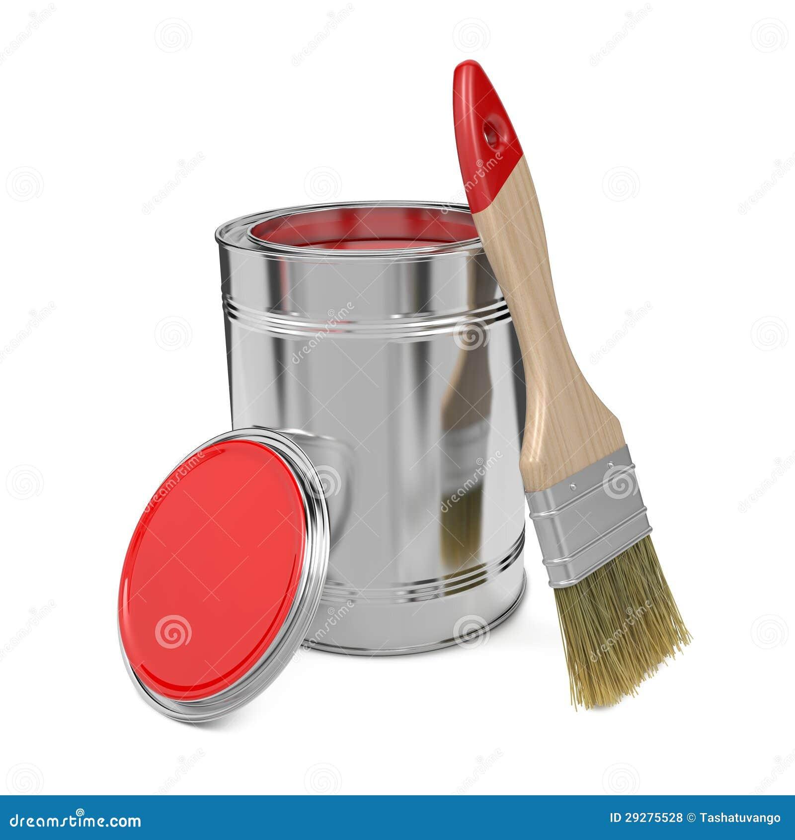 La pintura puede y brocha fotos de archivo libres de regal as imagen 29275528 - Brochas pintura ...