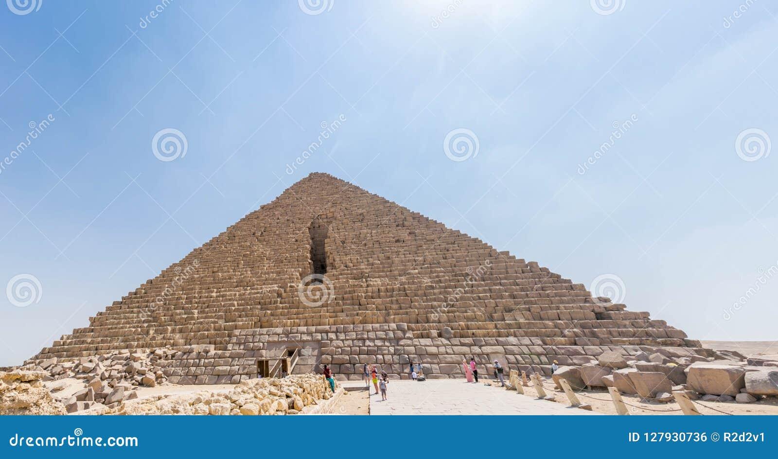 La pirámide de Menkaure en Egipto