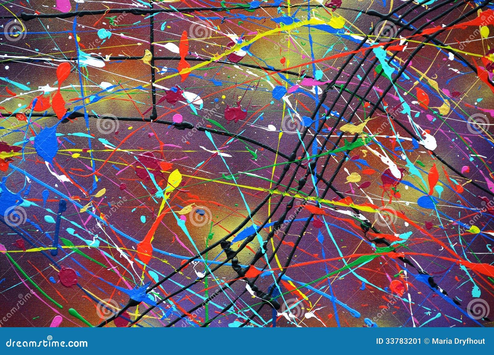 la pittura moderna schizza il modello immagine stock