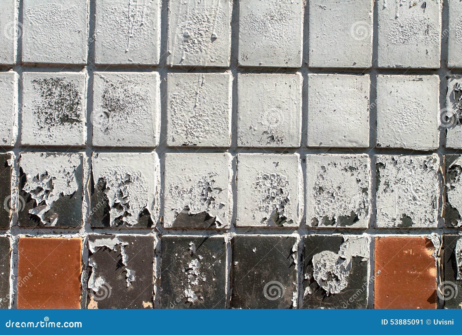 Pittura Su Piastrelle Di Ceramica : La pittura scheggiata sulla parete è coperta di struttura delle